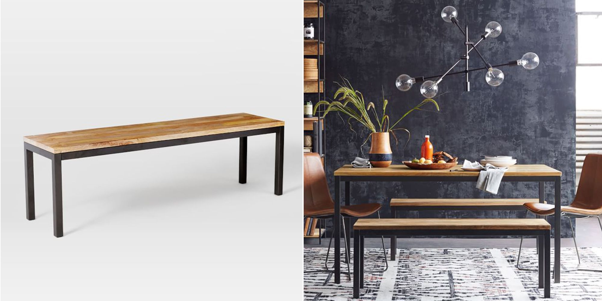 Current Rustic Country 8 Seating Casual Dining Tables Inside 10 Best Dining Benches 2018 – Wooden Dining Room Benches (View 25 of 25)