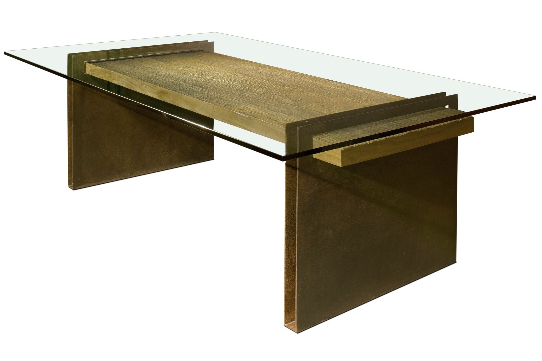 Current Steel And Glass Rectangle Dining Tables Pertaining To Contemporary Table / Glass / Rectangular / In Reclaimed (View 19 of 25)