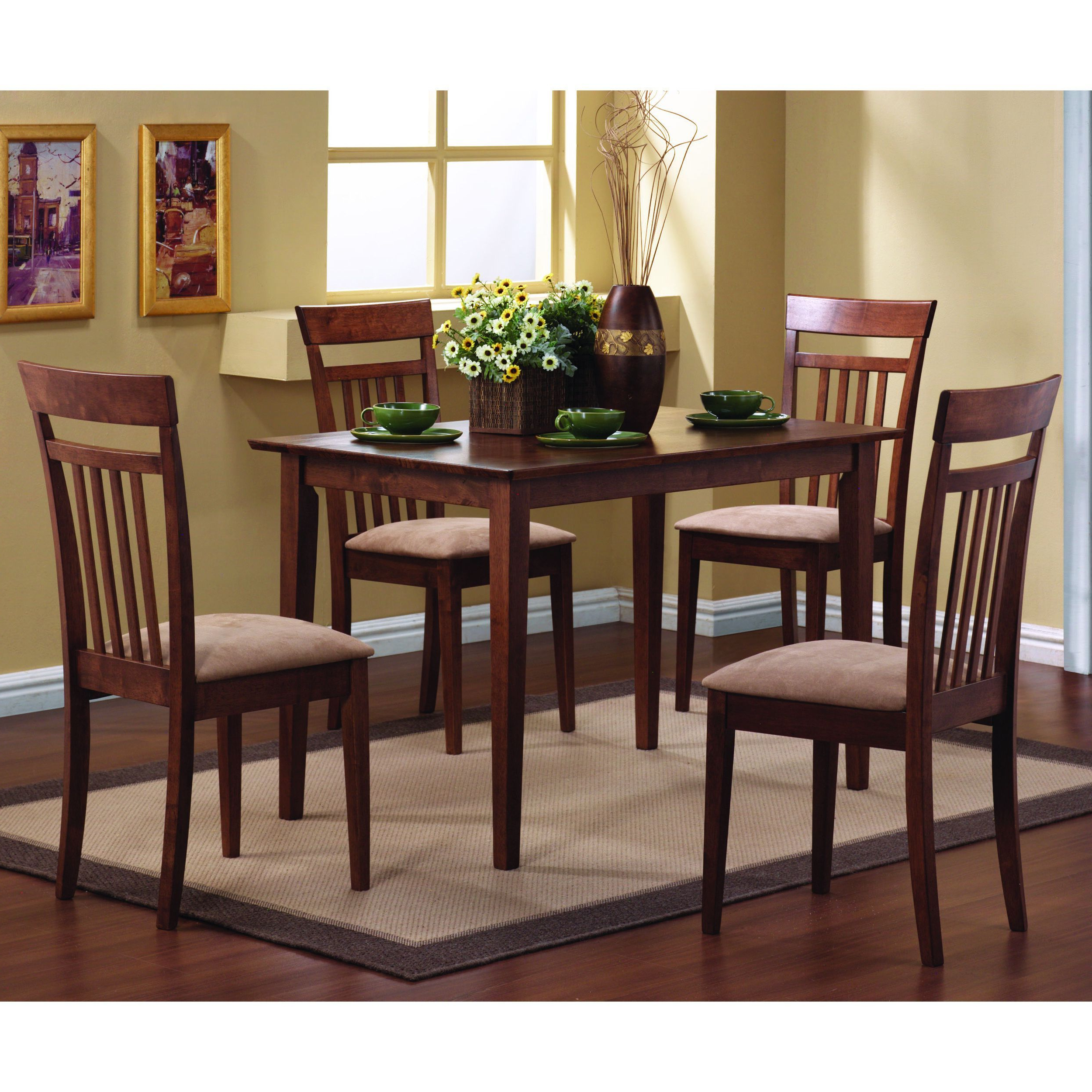 Current Transitional 4 Seating Square Casual Dining Tables Regarding This Lovely Dining Table And Chair Set Will Be The Perfect (View 3 of 25)