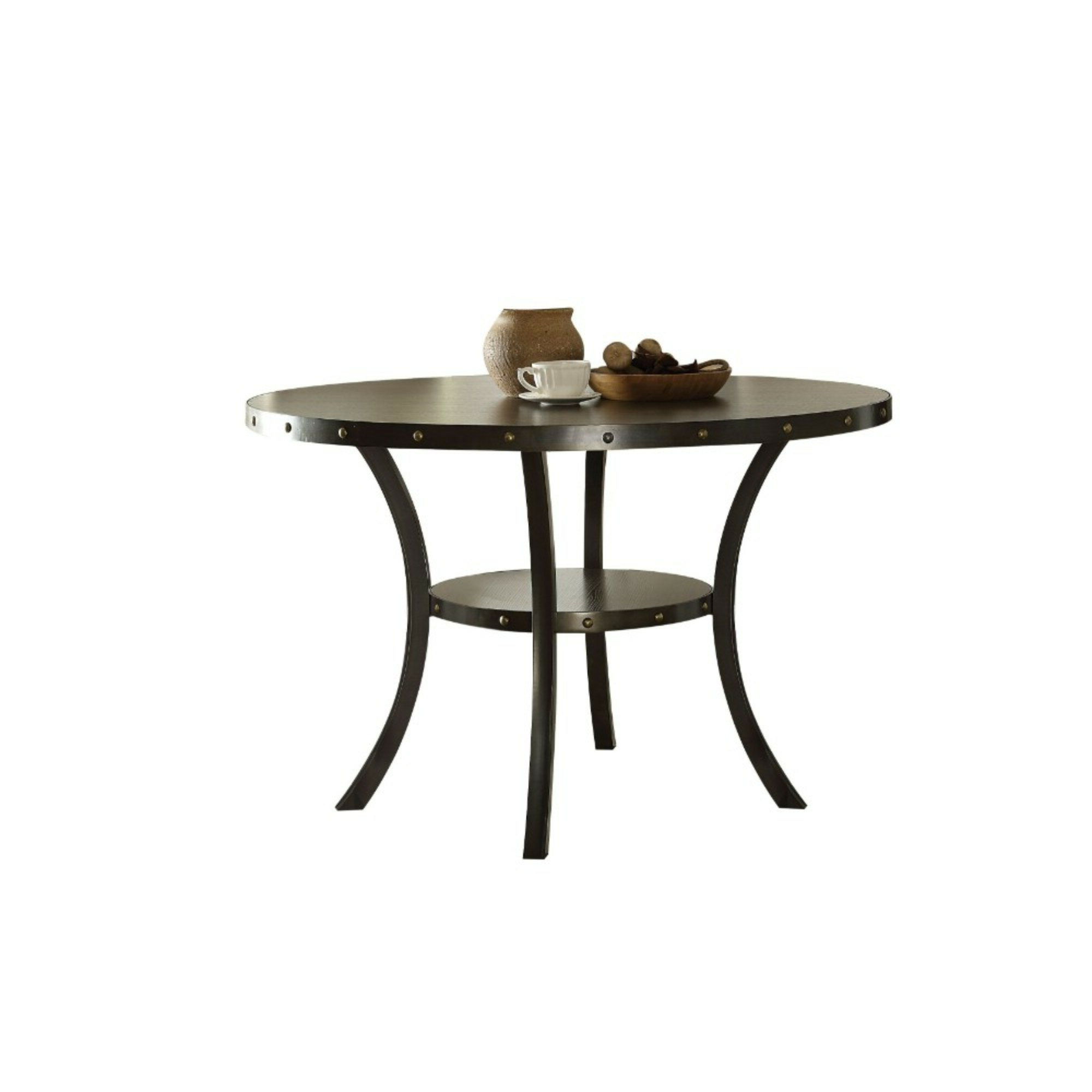 Current Transitional Driftwood Casual Dining Tables With Regard To Williston Forge Calvillo Transitional Round Solid Wood (View 18 of 25)