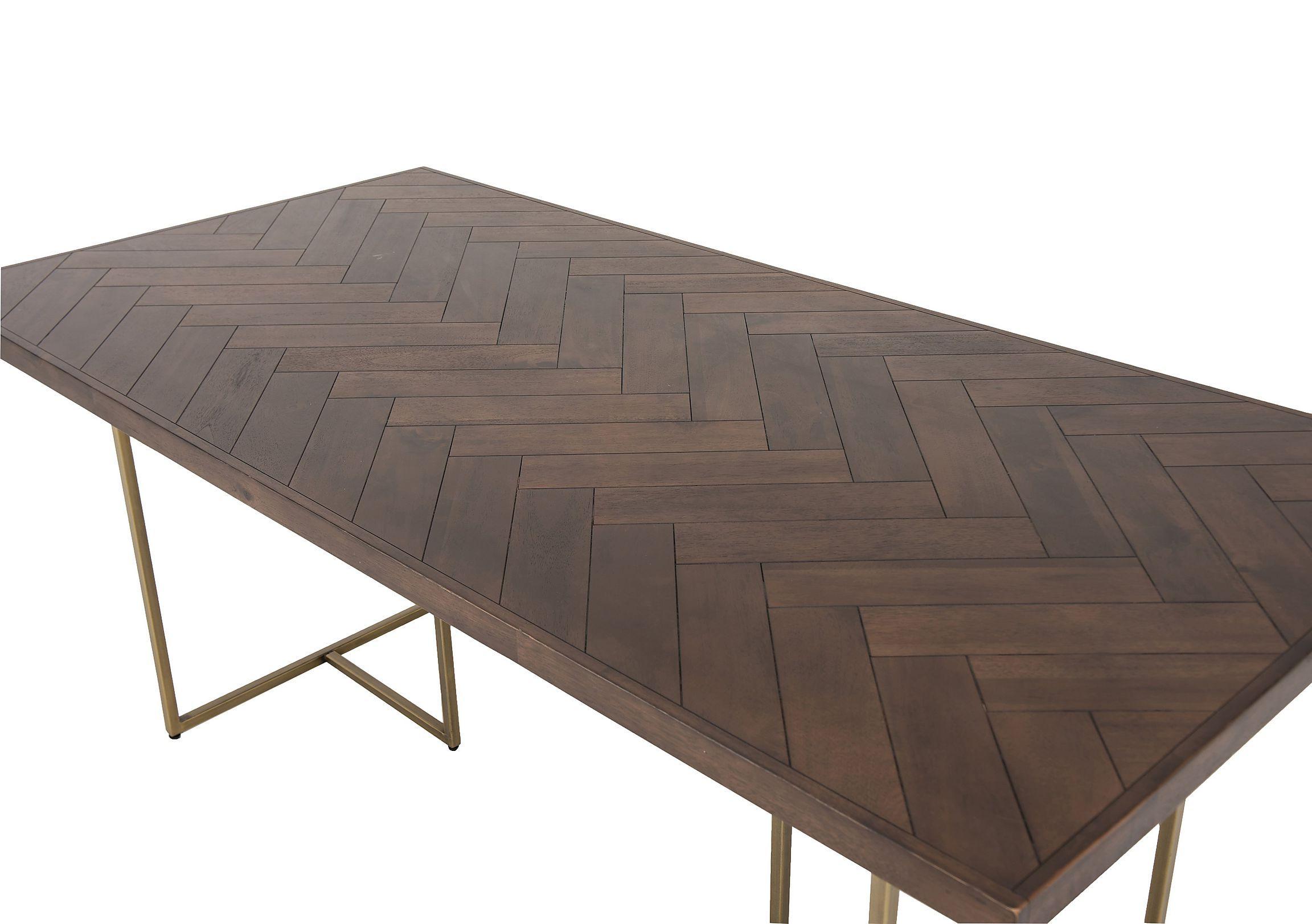 Dark Wood, Metal Dining Table, Diy (View 10 of 25)