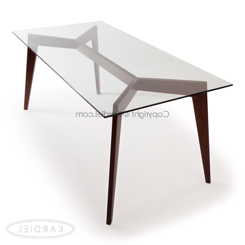 Deco Blaze Dining Table, Walnut (View 4 of 25)