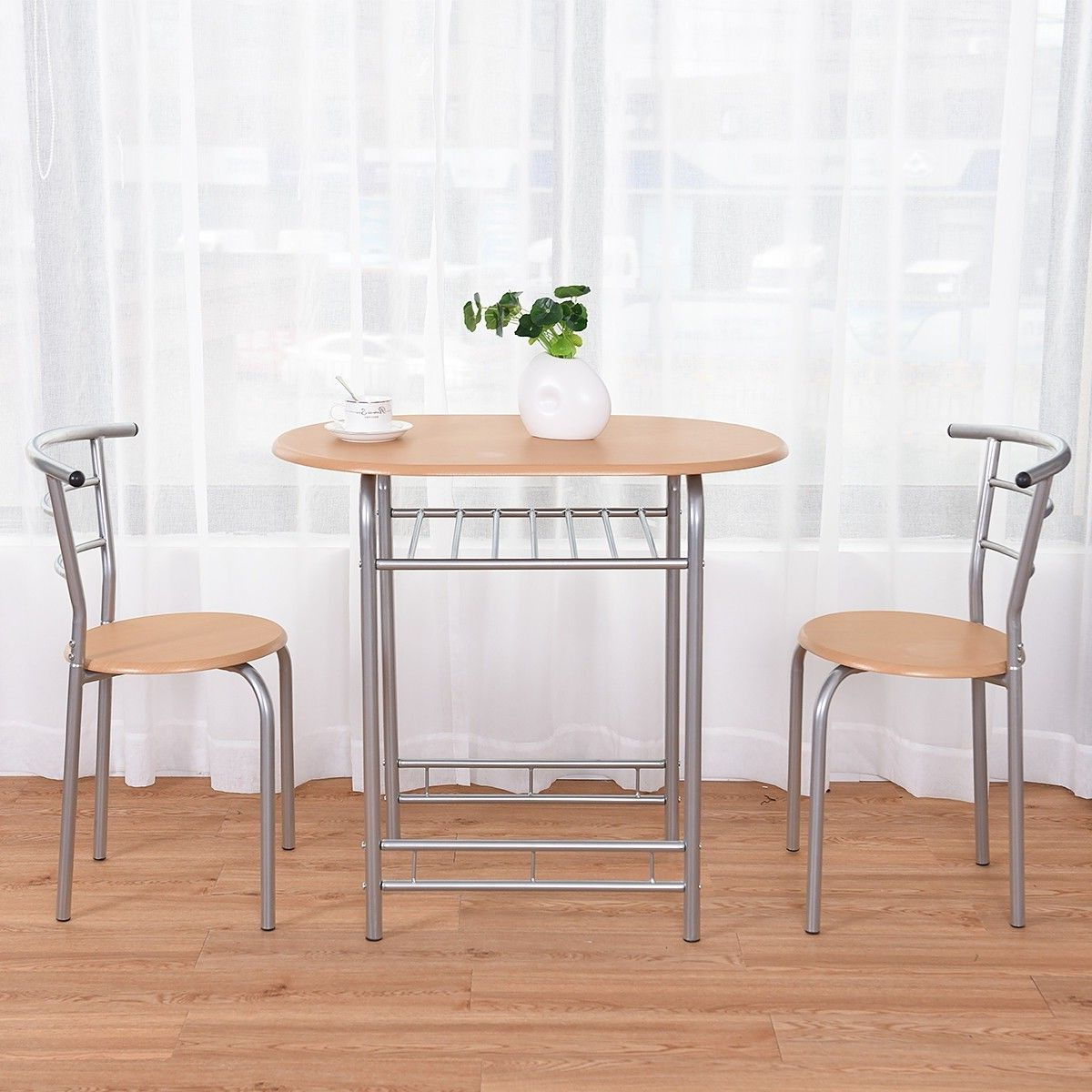 Dining in Transitional 3-Piece Drop Leaf Casual Dining Tables Set