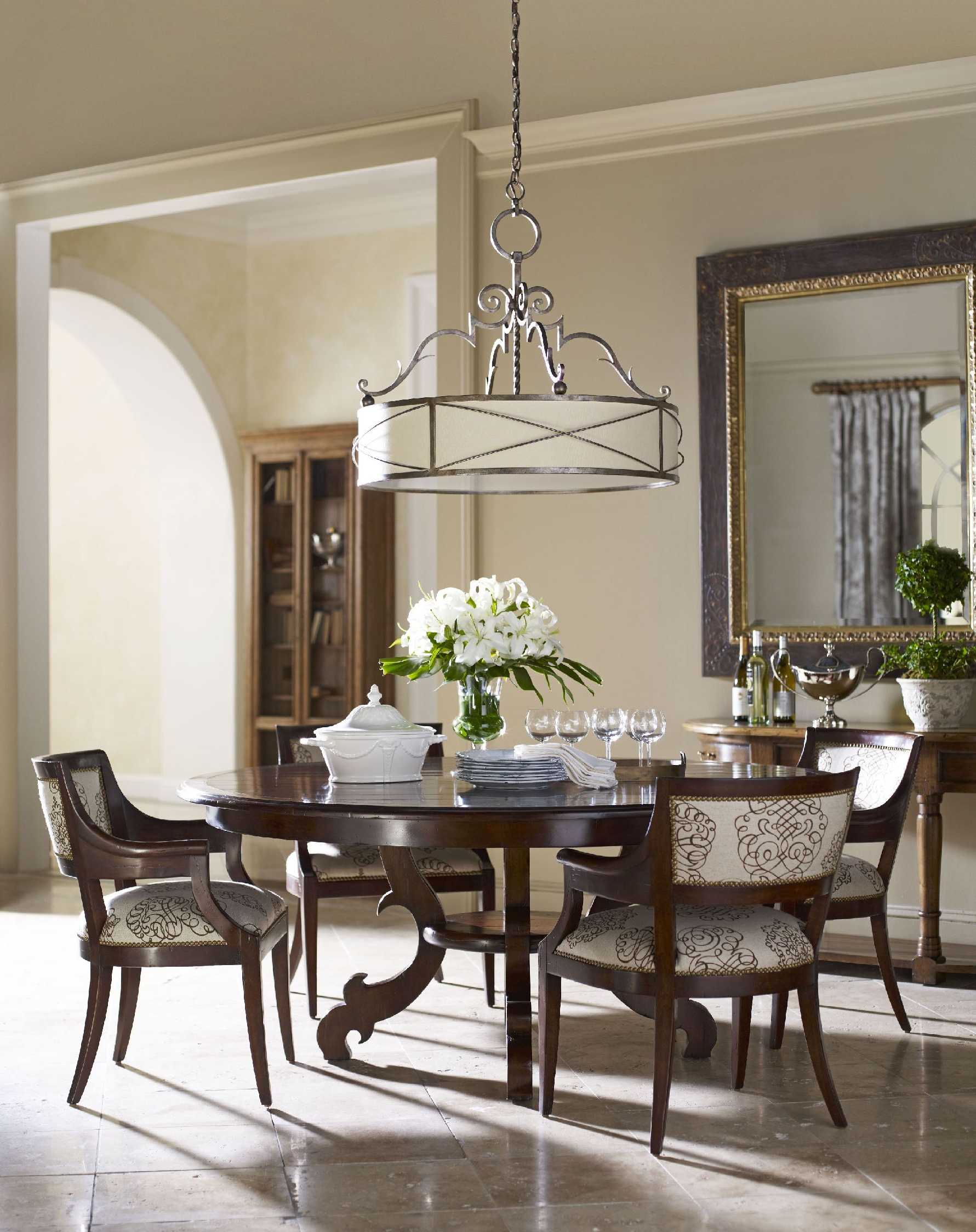 Dining Roompottery Barn Round Table Give An Elegant Touch In pertaining to Most Popular Elegance Large Round Dining Tables