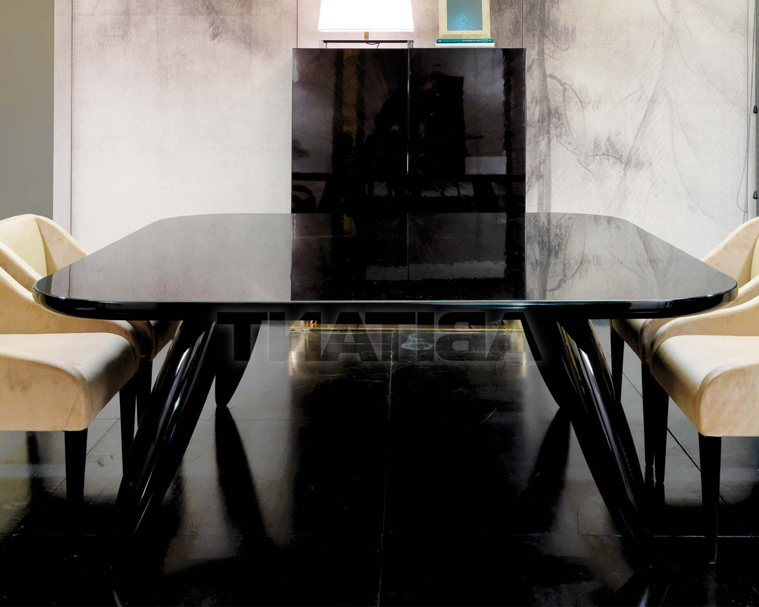 Dining Table Black Dom Edizioni Lollo Square, : Buy, Оrder pertaining to Famous Dom Square Dining Tables
