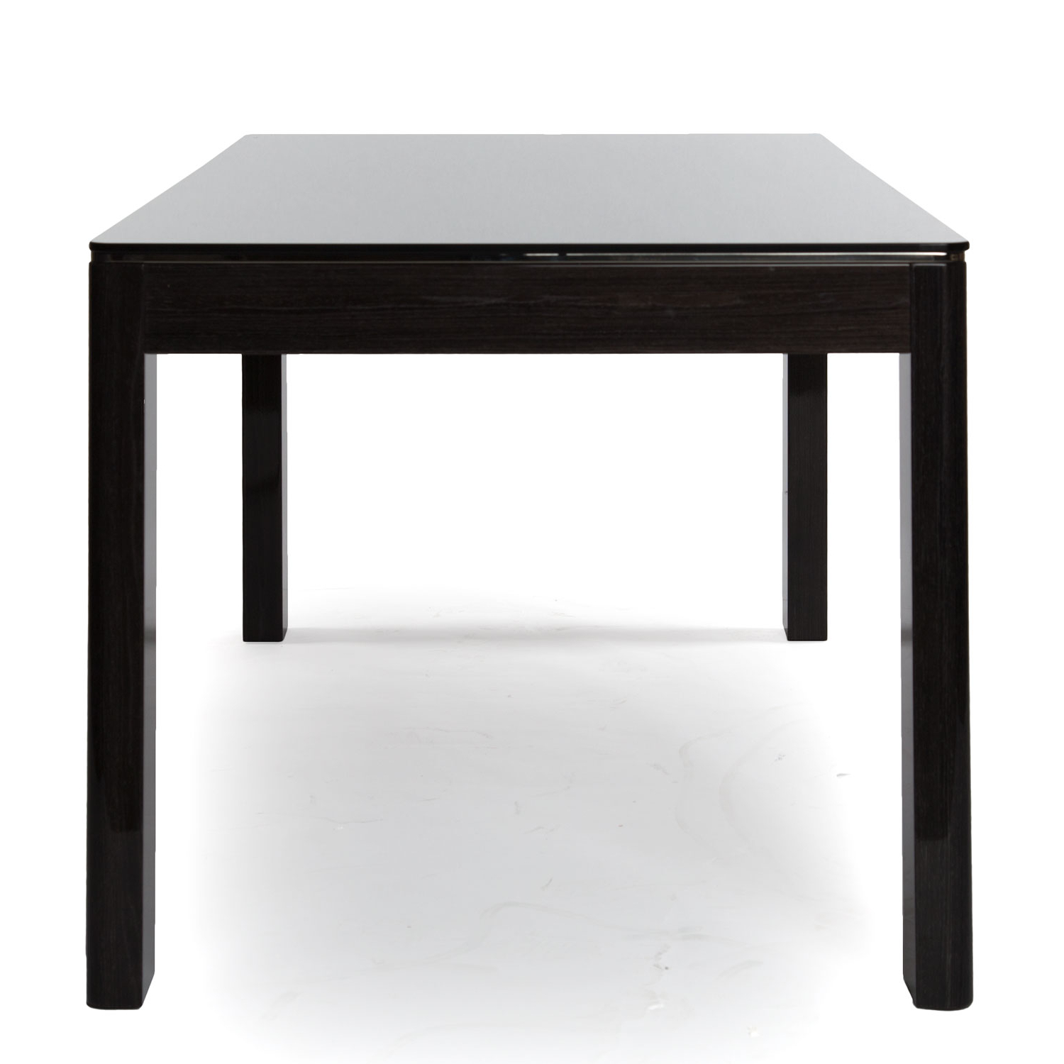 Dining Table – Rectangular Black Glass Pertaining To Rectangular Glass Top Dining Tables (View 22 of 25)