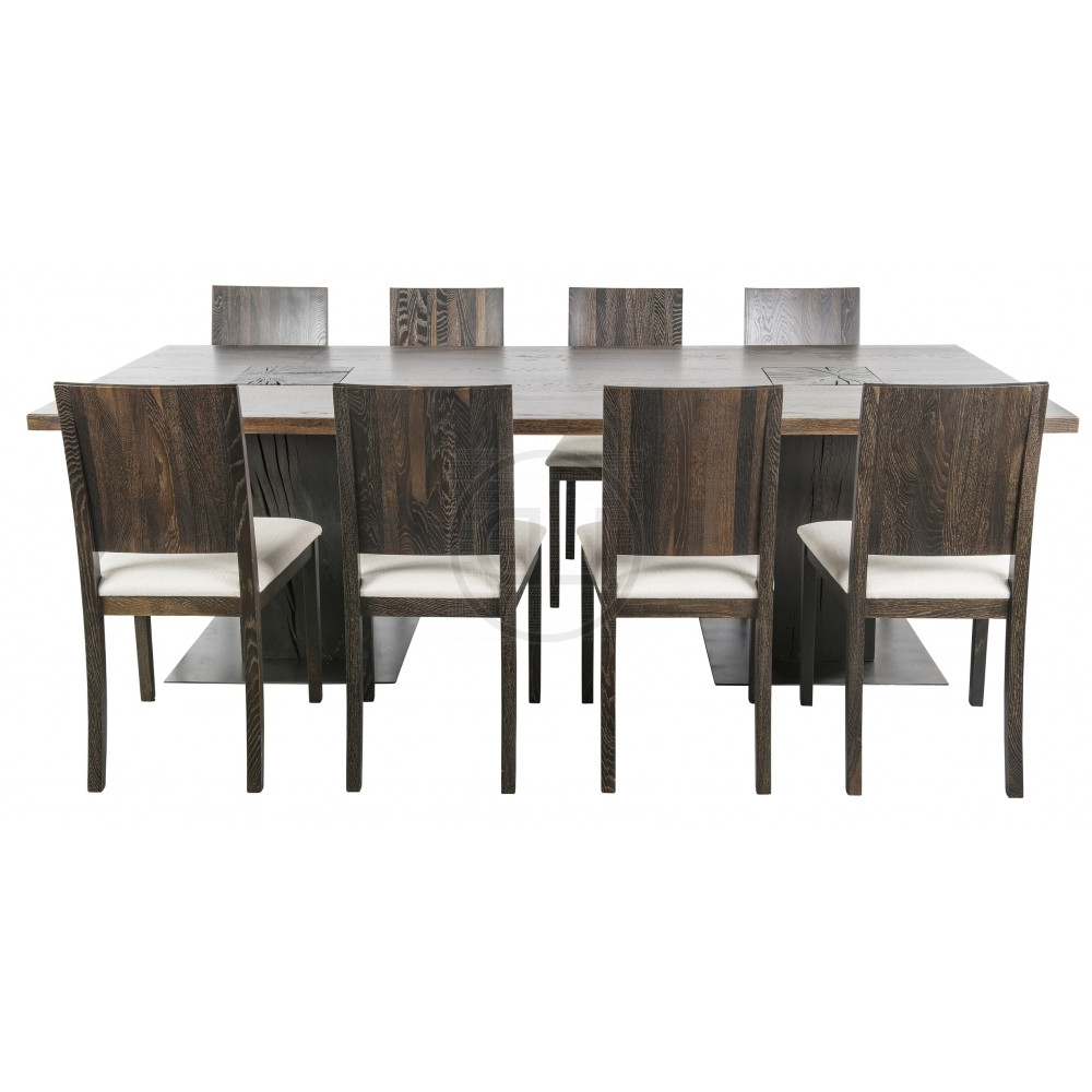Dining Tables In Seared Oak In Well Liked Obi Seared Oak High Back Dining Chair (View 9 of 25)