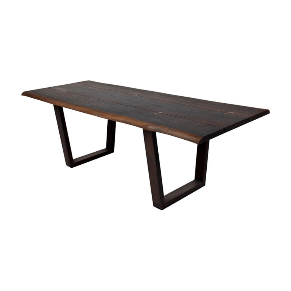 Dining Tables In Seared Oak Regarding 2019 Kava Dining Table In Seared Oak With Live Edgenuevo (View 13 of 25)