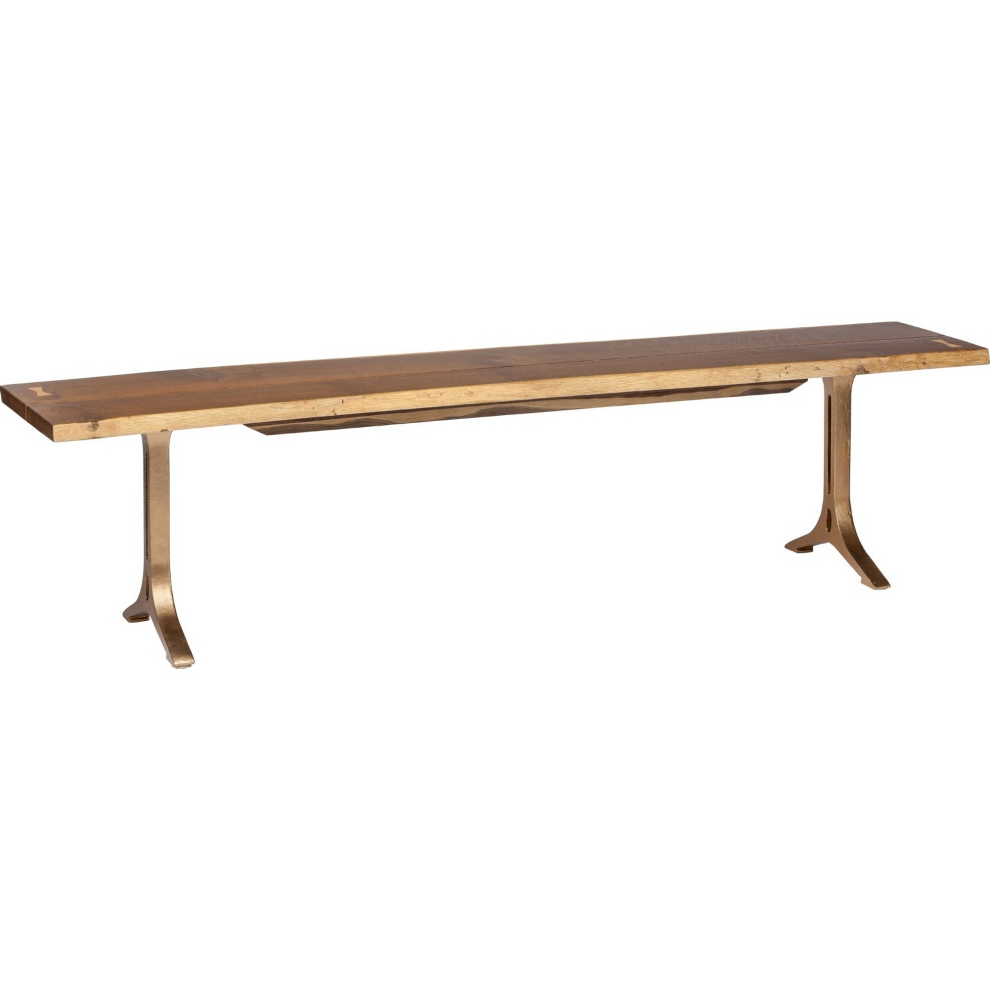 Dining Tables In Smoked Seared Oak with regard to Famous Samara Dining Bench In Smoked Oak Bronzed Gilt 71