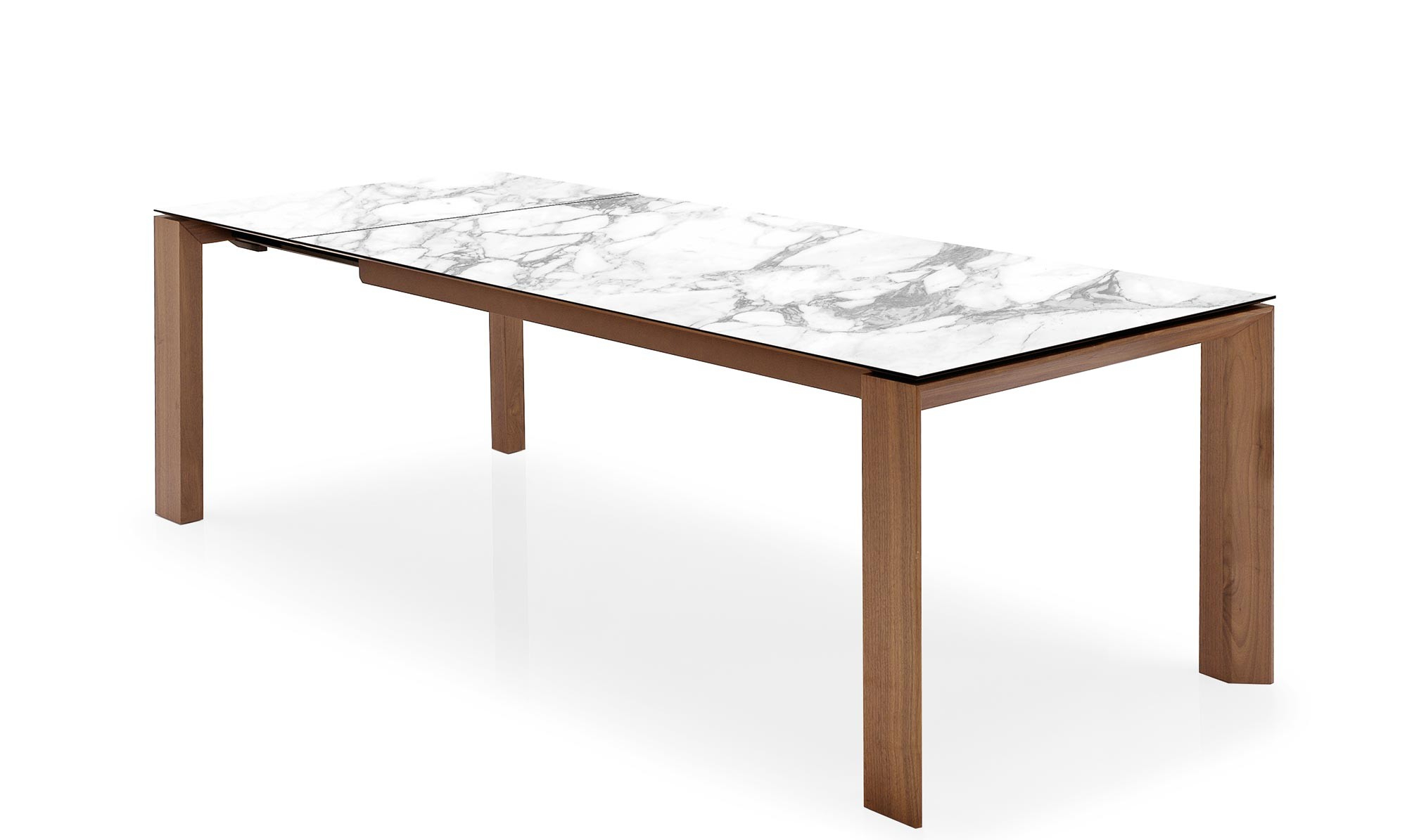 Dining Tables With White Marble Top inside Newest Calligaris Omnia - Cs4058-Lv Ext Dining Table With White Marble Ceramic Top