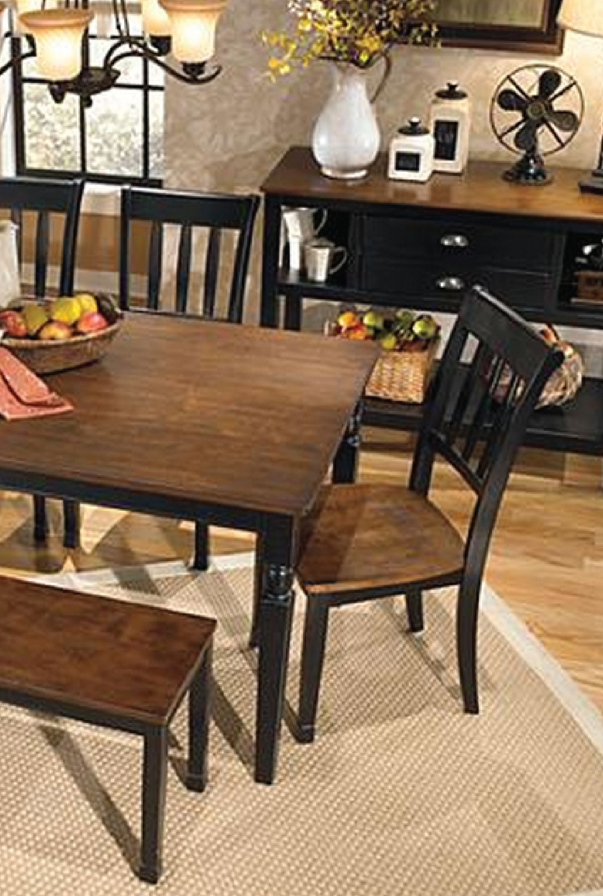 Distressed Walnut And Black Finish Wood Modern Country Dining Tables with 2020 This Farmhouse-Style Table Is An Elegant And Beautiful