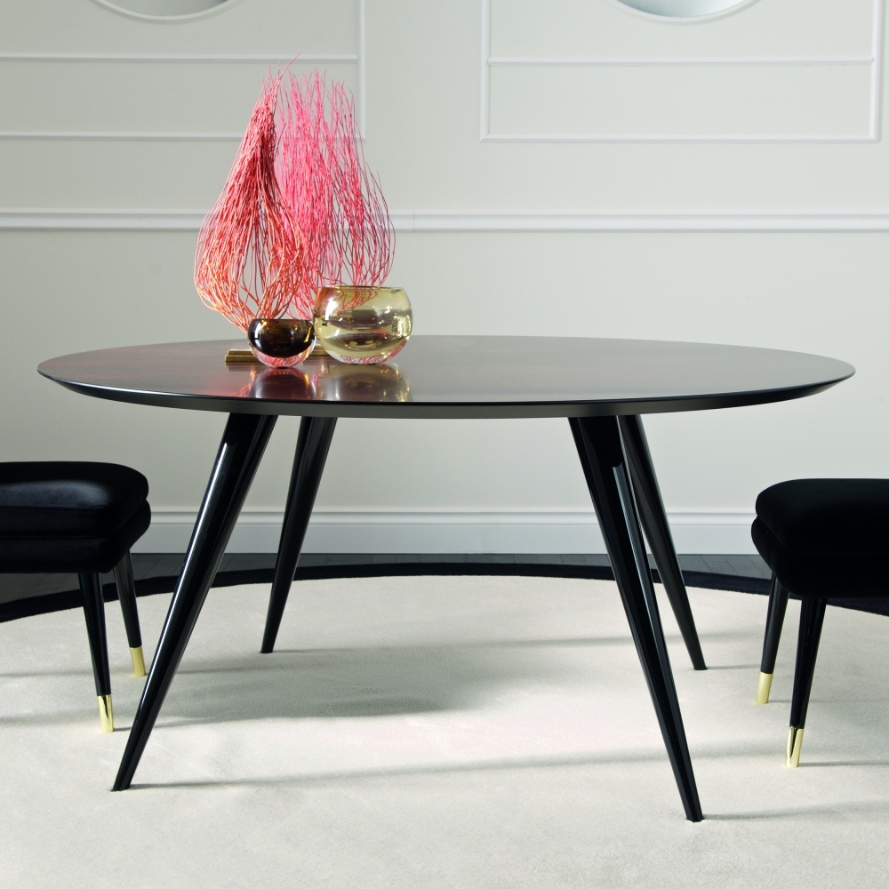 Dom Edizioni Rocco Round Dining Table with Most Recent Dom Round Dining Tables