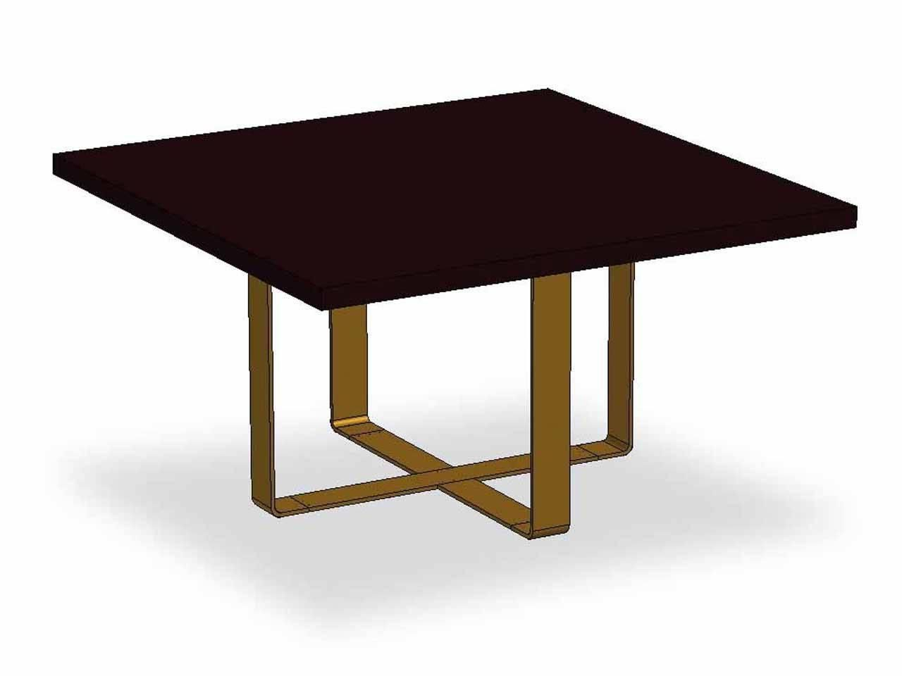 Dom Edizioni Wood,brass Elliptical,round,square,rectangular intended for Most Current Dom Square Dining Tables