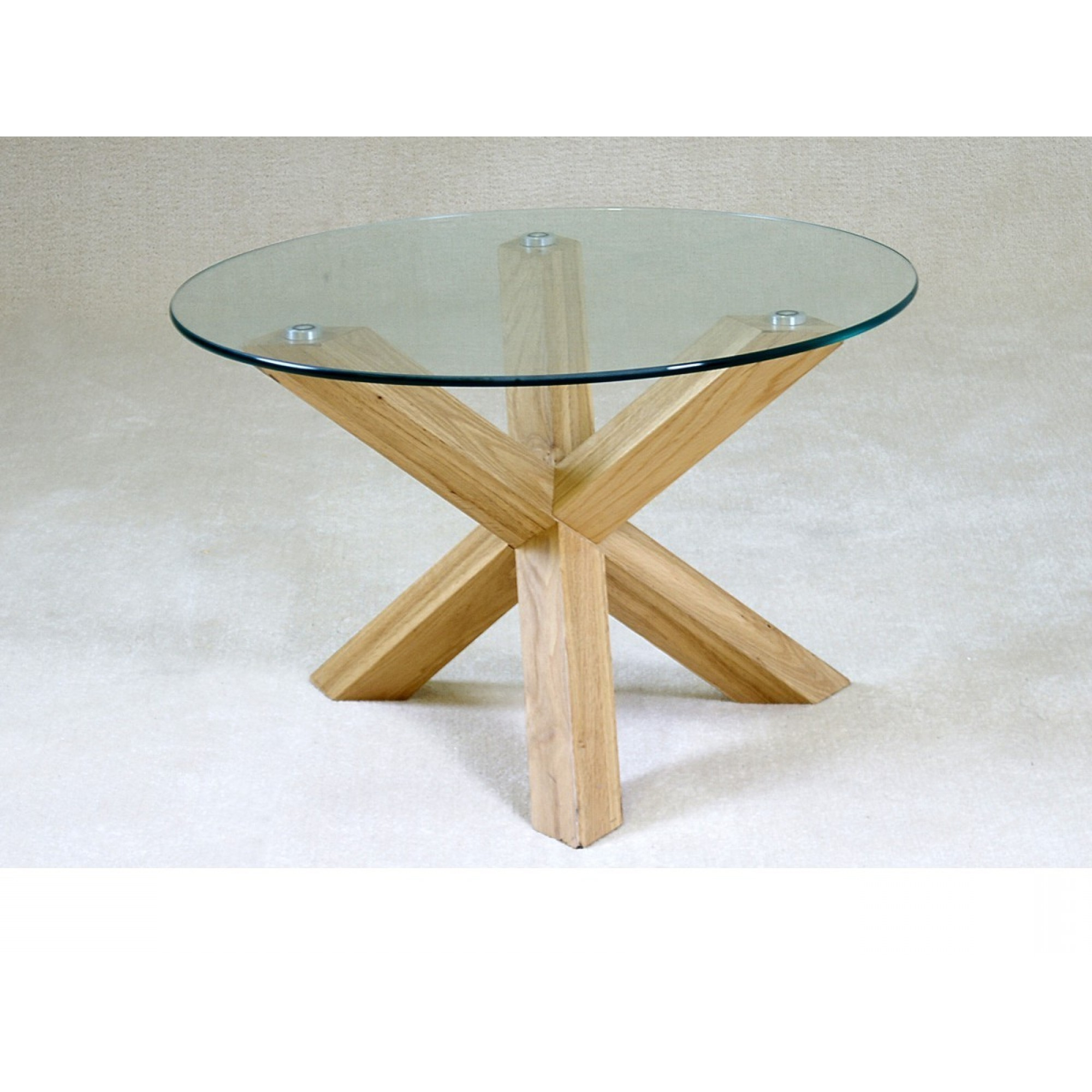Eames Style Dining Tables With Chromed Leg And Tempered Glass Top with Most Up-to-Date Table Round Glass Coffee With Wood Base Sunroom Top Table