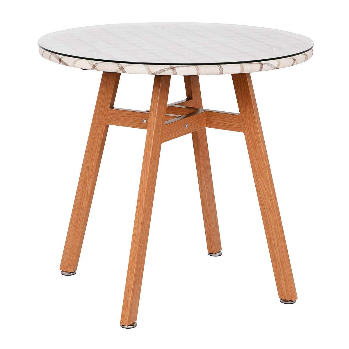 Eames Style Dining Tables With Chromed Leg And Tempered Glass Top within 2020 Giantex Round Dining Table Steel Frame Tempered Glass Top Home Decor  Kitchen Furniture