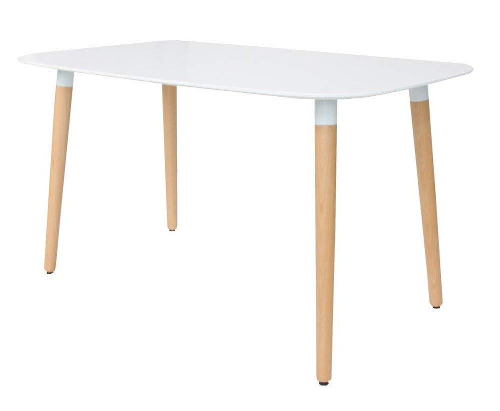 Eames Style Dining Tables With Wooden Legs inside Current Amazon - Nicer Furniture Eames Style Dining Table With