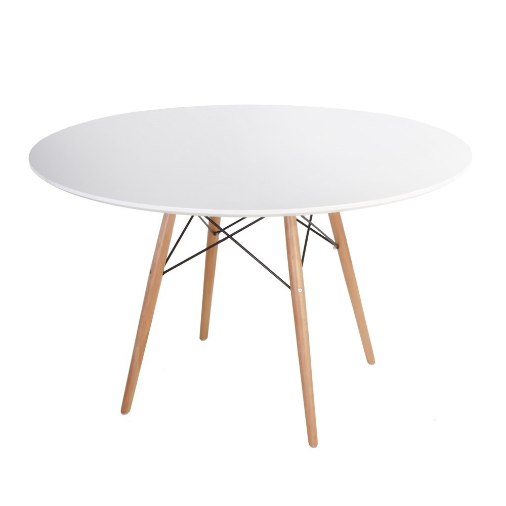 Eames Style Dining Tables With Wooden Legs Pertaining To Most Popular Replica Eames Eiffel Wood Leg Table (View 9 of 16)