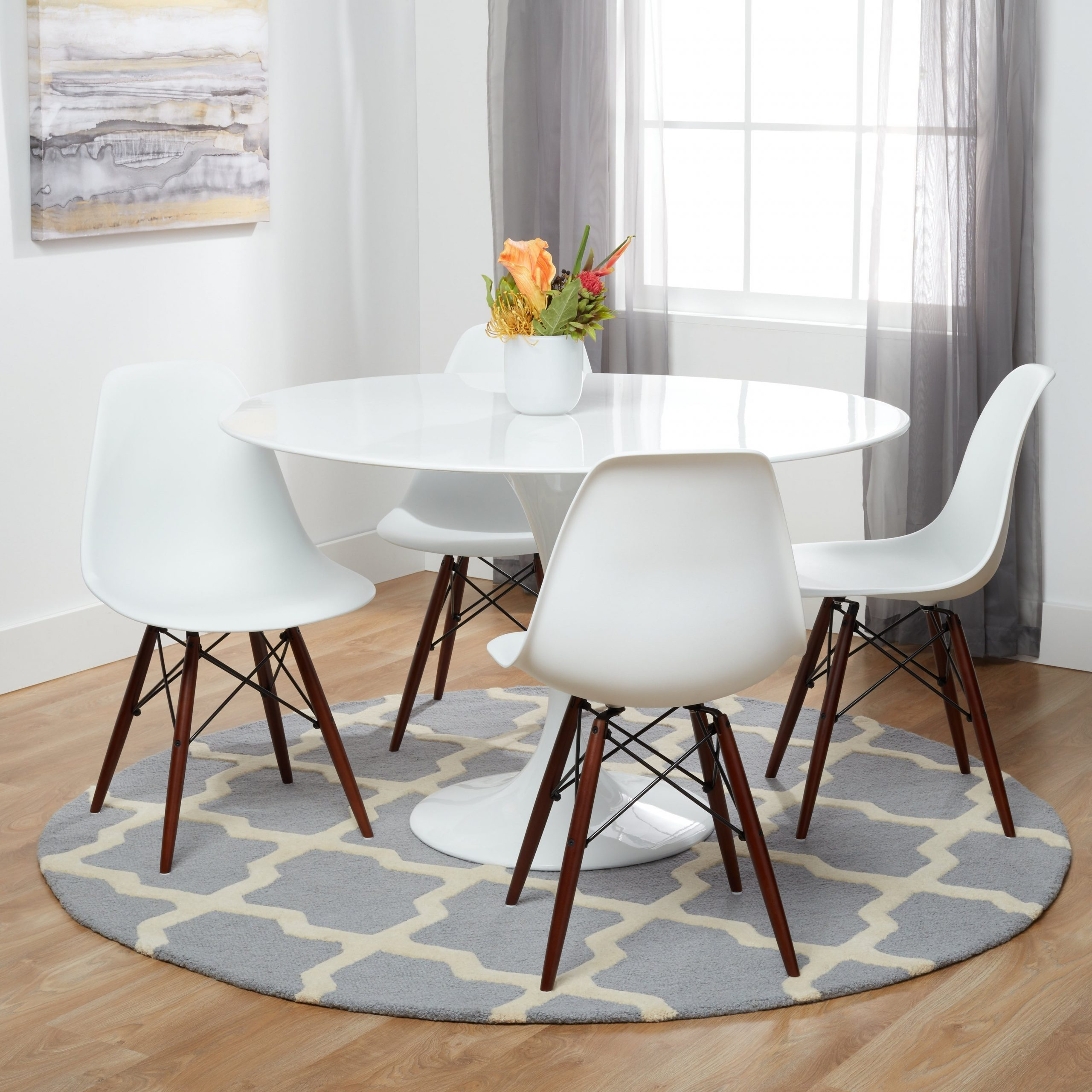 Eames Style Dining Tables With Wooden Legs With Most Current Take Me Home Furniture Eames Style Side Chair With Walnut (View 15 of 16)