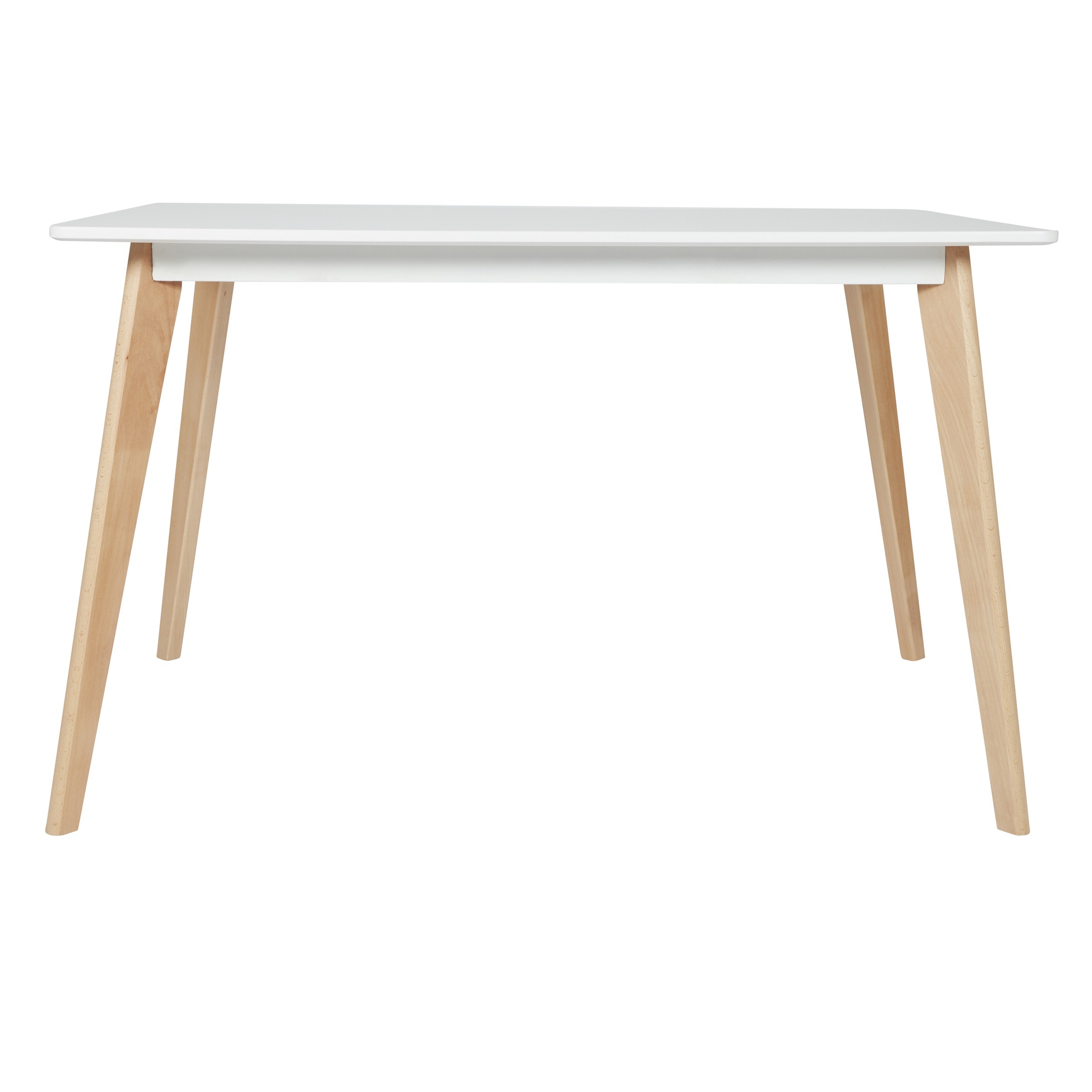 Eames Style Dining Tables With Wooden Legs Within Popular Dining Table With Natural Beech Wood Legs (White (View 5 of 16)