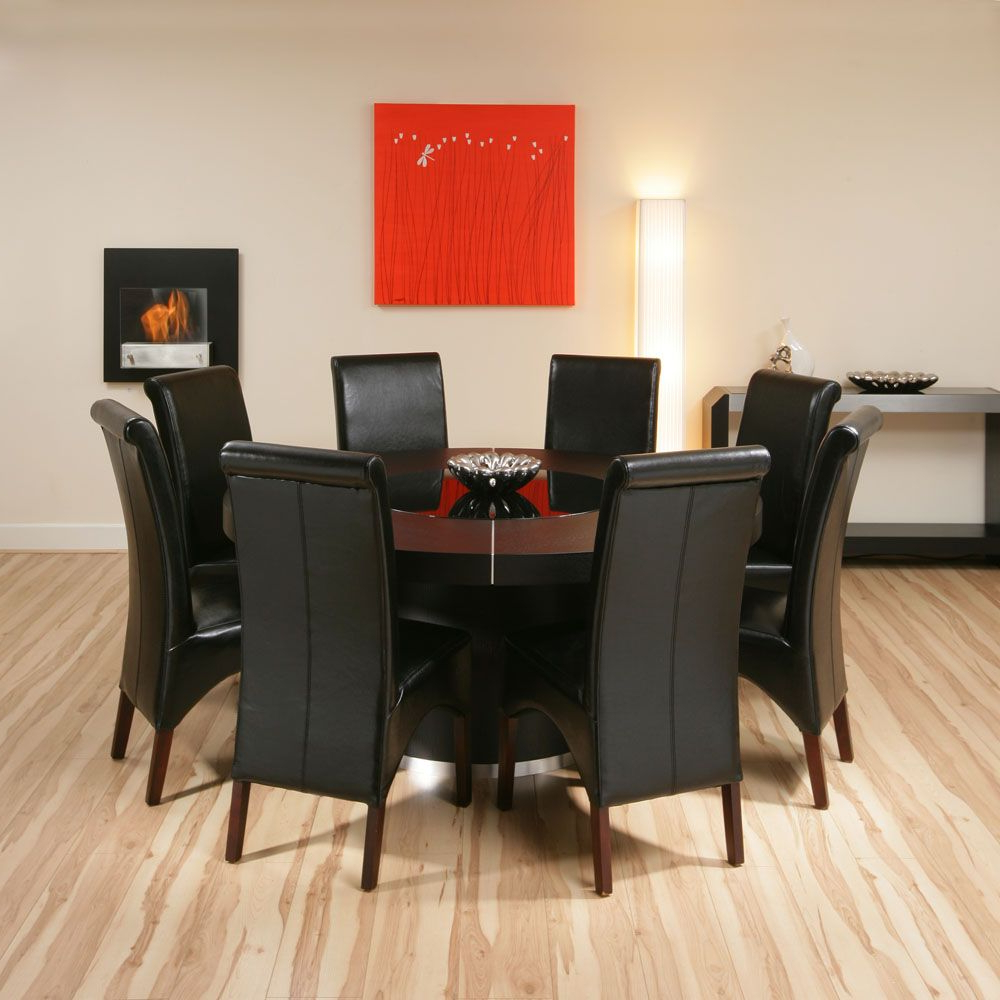 Elegance Large Round Dining Tables Inside Fashionable Modern Elegant Large Round Dining Tables Black Leather (View 8 of 25)