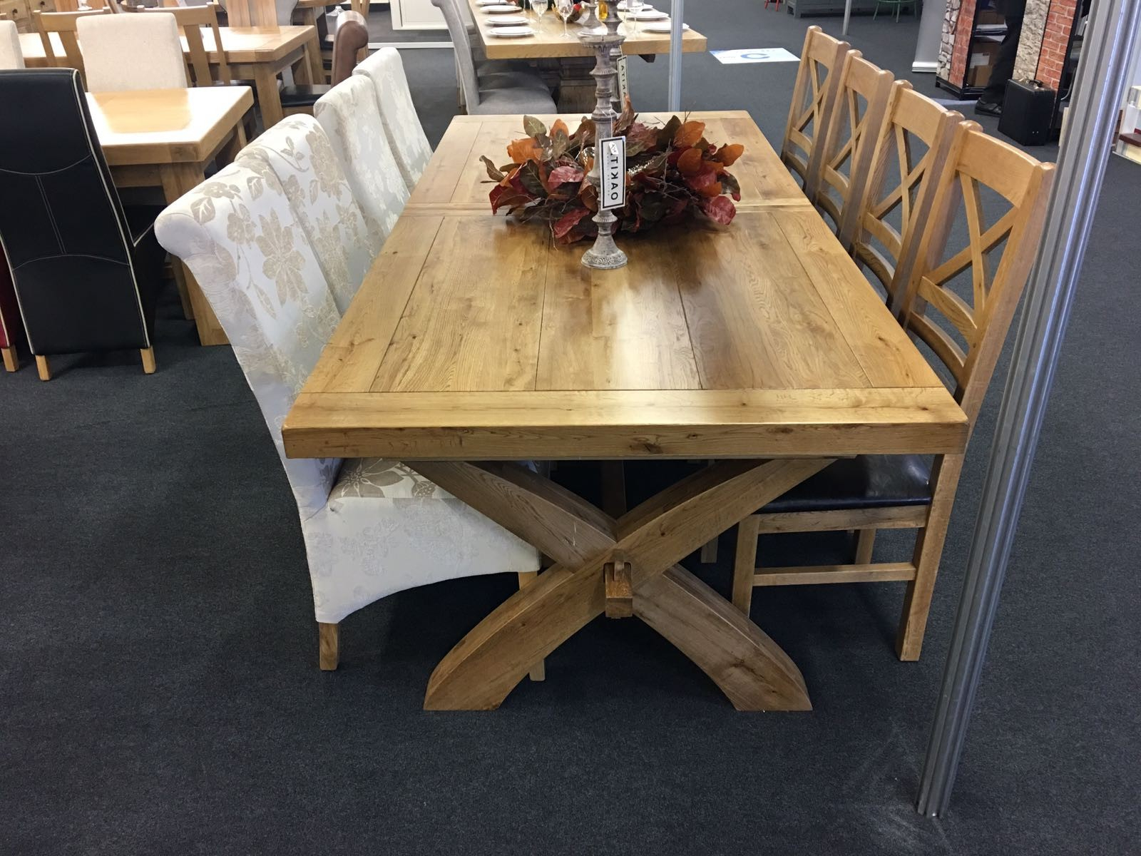Elegant Large Extending Dining Table Provence Solid Oak In Well Known Elegance Large Round Dining Tables (View 12 of 25)