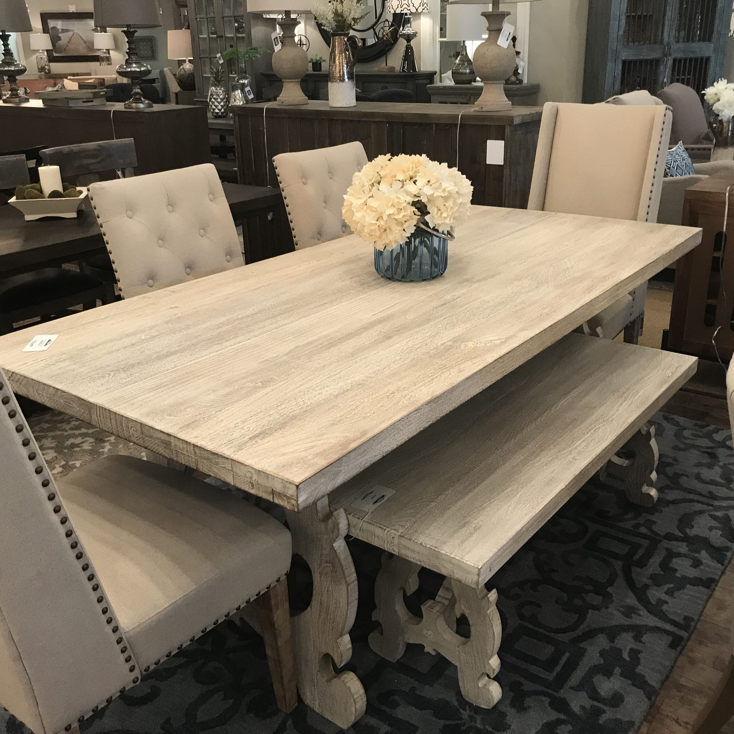 """Elle 78"""" Dining Table – Gray Wash (View 3 of 25)"""