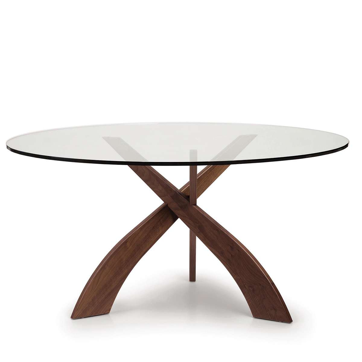 Entwine Round Glass Top Dining Table with regard to Well known Round Dining Tables With Glass Top