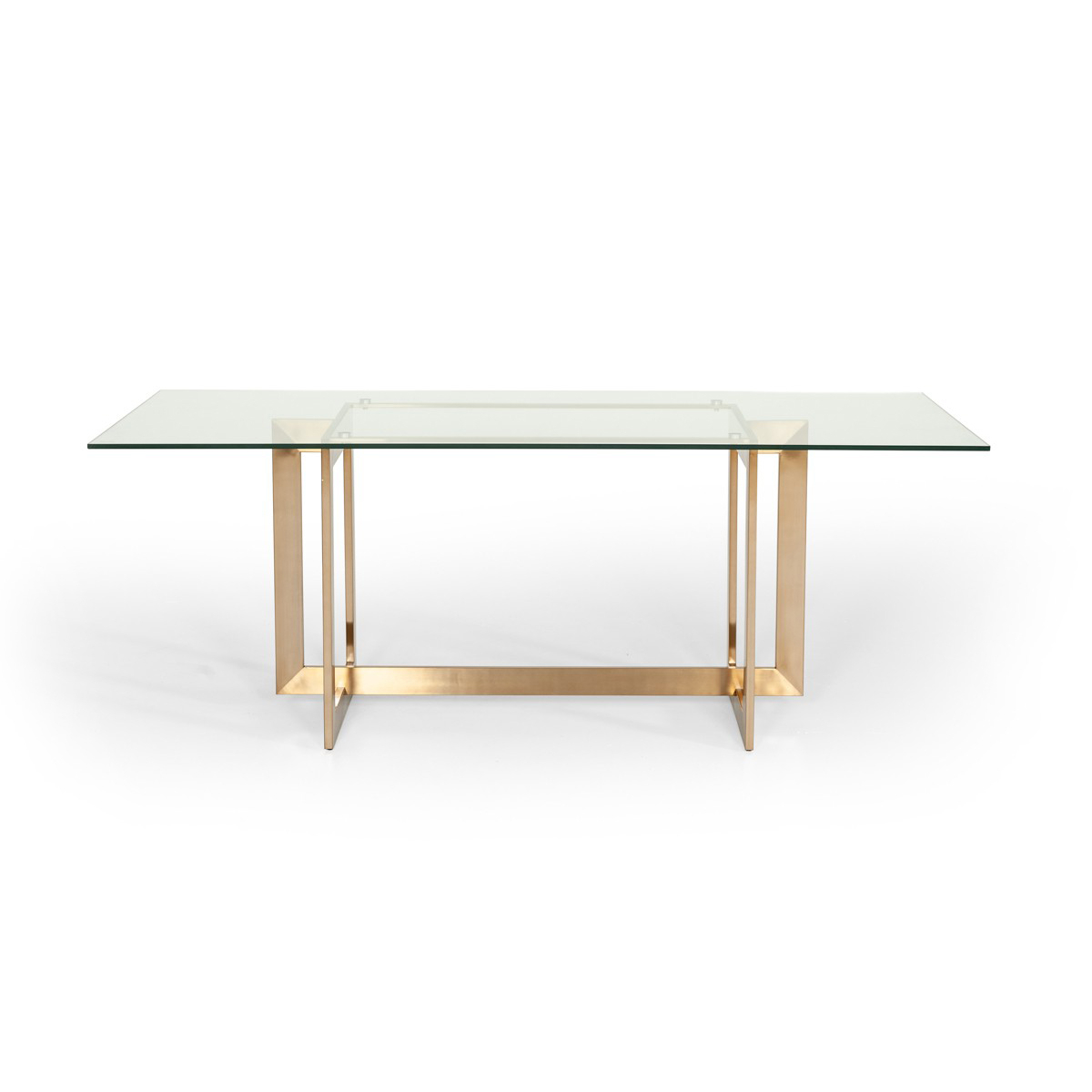 Event Trade Show Furniture Rental with regard to 2020 Dining Tables With Brushed Gold Stainless Finish