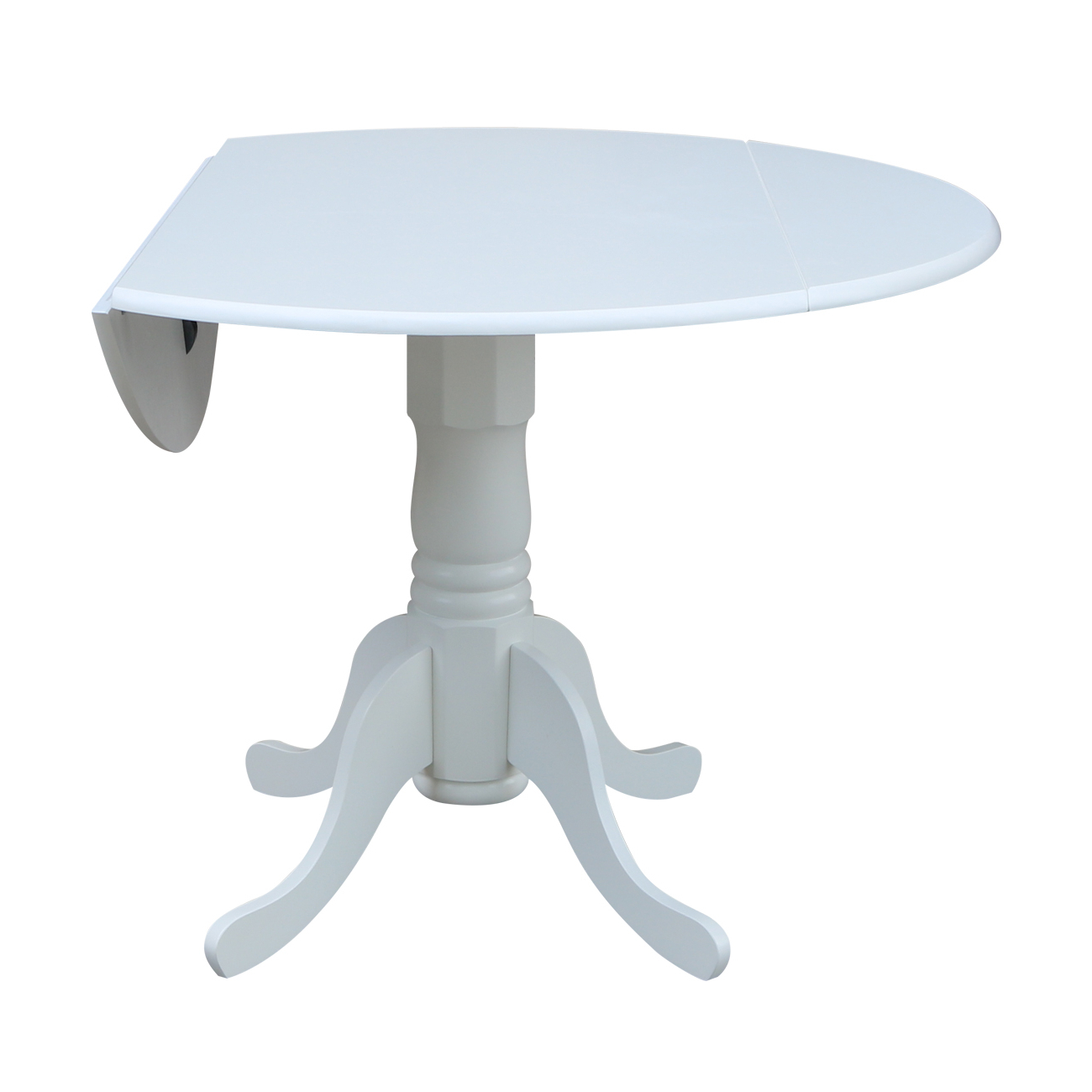 "Famous 42"" Dual Drop Leaf Table – White – Walmart For Unfinished Drop Leaf Casual Dining Tables (View 24 of 25)"