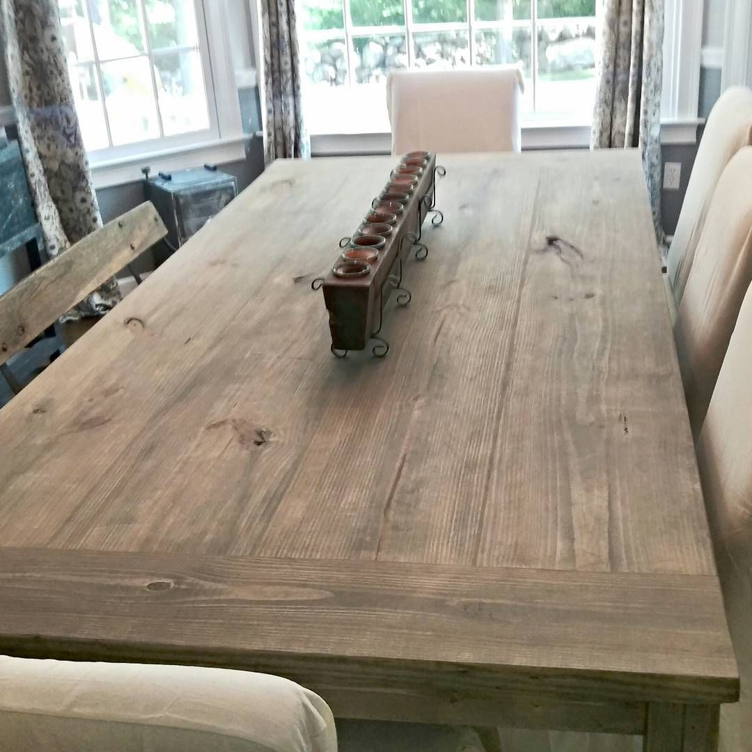 Famous 7Ft Farmhouse Table Stain: Weathered Grey Seal: Matte I Love Inside Country Dining Tables With Weathered Pine Finish (View 2 of 25)