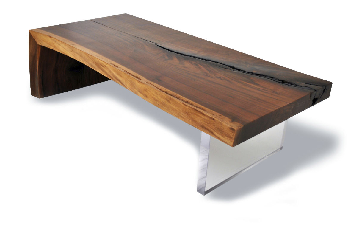 Famous Contemporary Coffee Table / Wooden / Rectangular / In With Walnut Finish Live Edge Wood Contemporary Dining Tables (View 7 of 25)