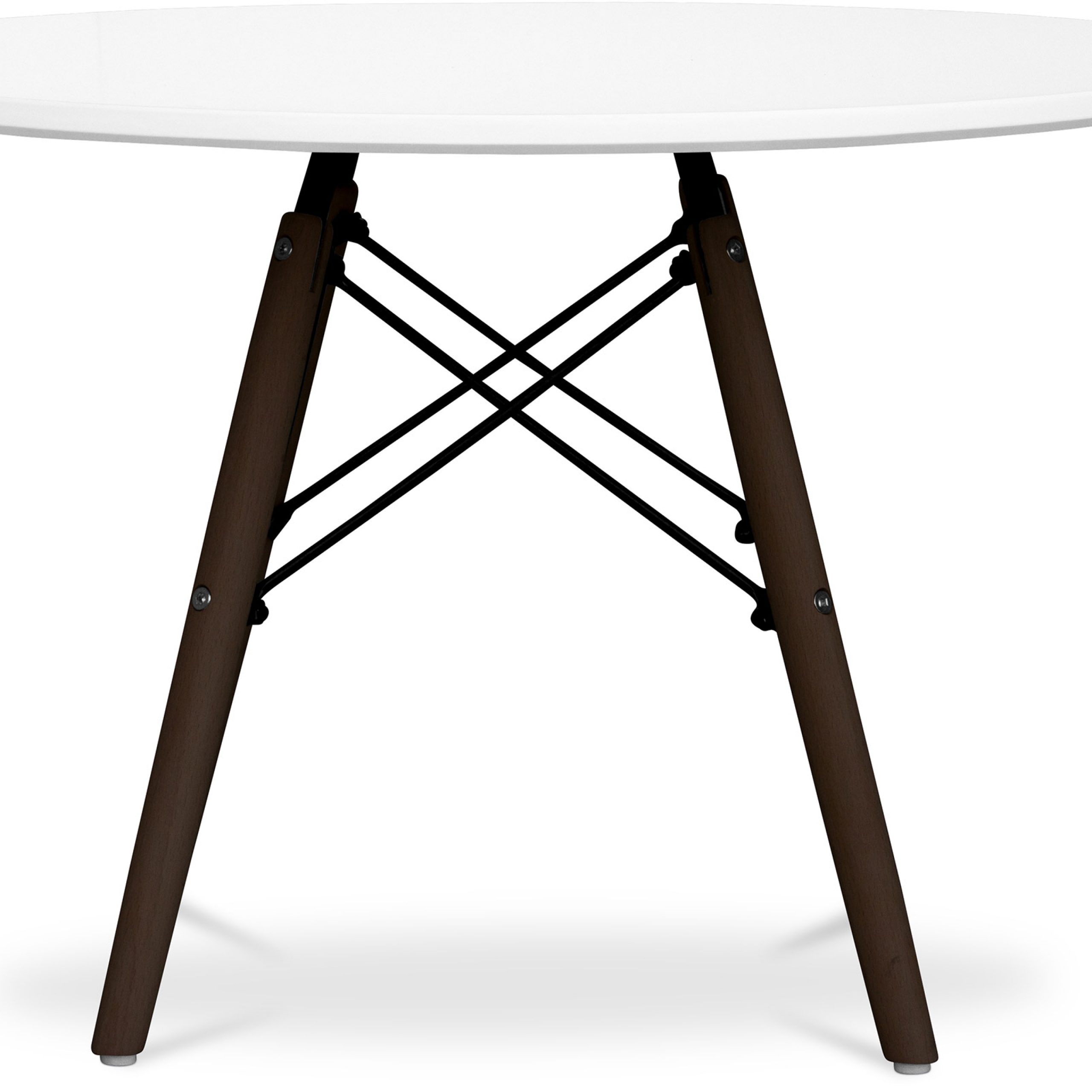 Famous Eames Style Dining Tables With Wooden Legs Intended For Dark Legs Dsw Kids Table Charles Eames – Style – Wood (View 6 of 16)