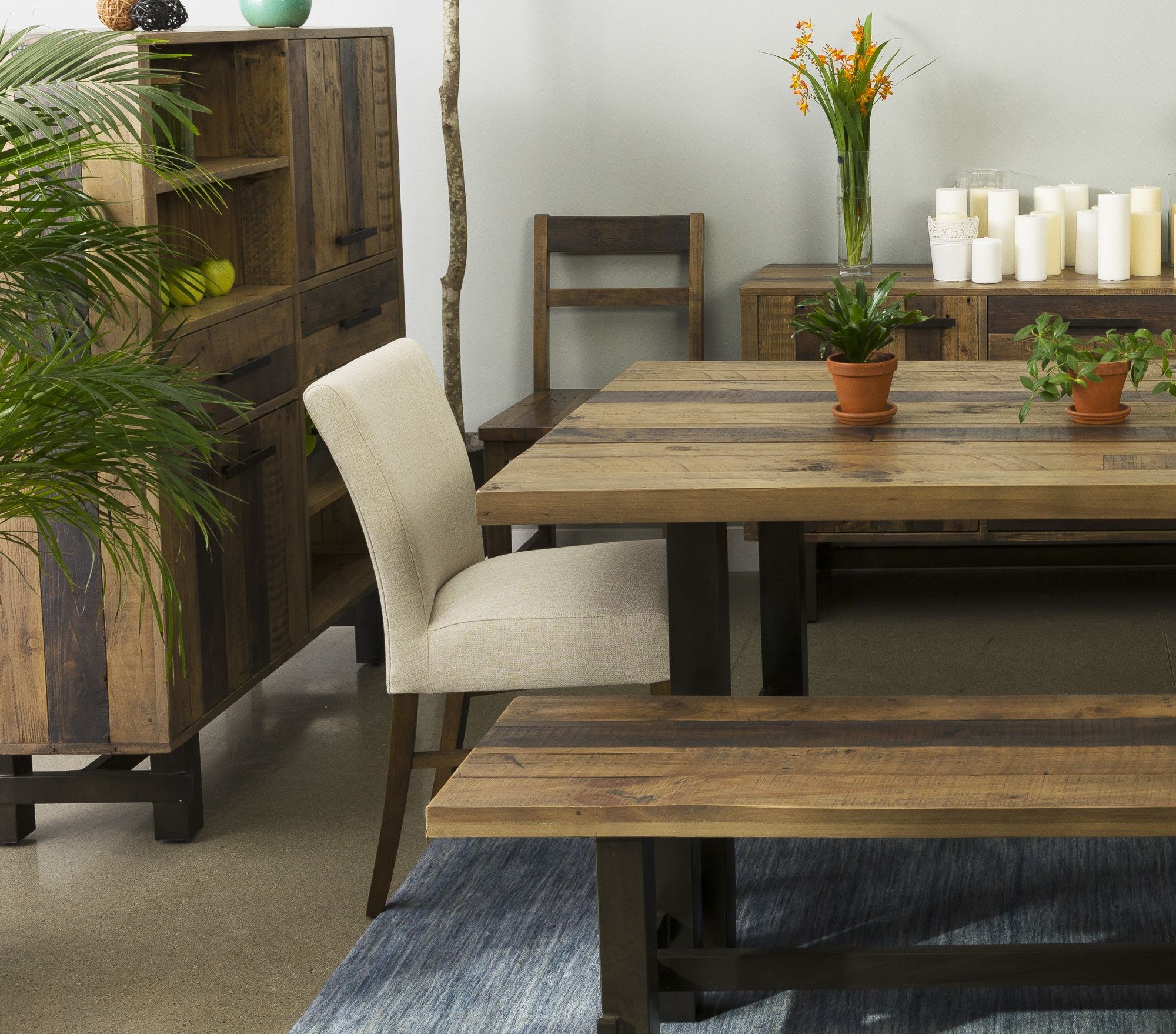 Famous Small Dining Tables With Rustic Pine Ash Brown Finish With Regard To Made From Recycled Pine With An Industrial Metal Base, These (View 5 of 25)