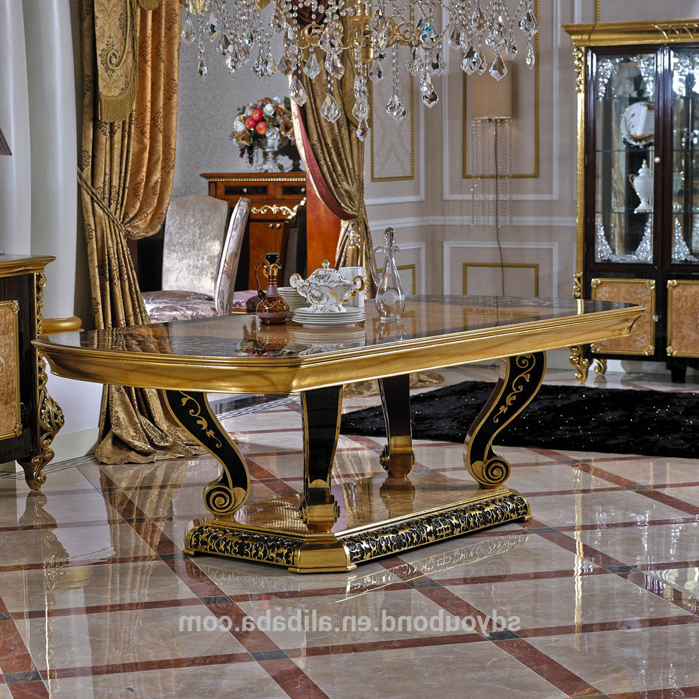 Fashionable 0061 Arabic Restaurant Gold Leaf Round Dining Table And Chair Furniture Set – Buy Restaurant Round Tables And Chairs,round Dining Table Set,arabic Intended For Neo Round Dining Tables (View 18 of 25)
