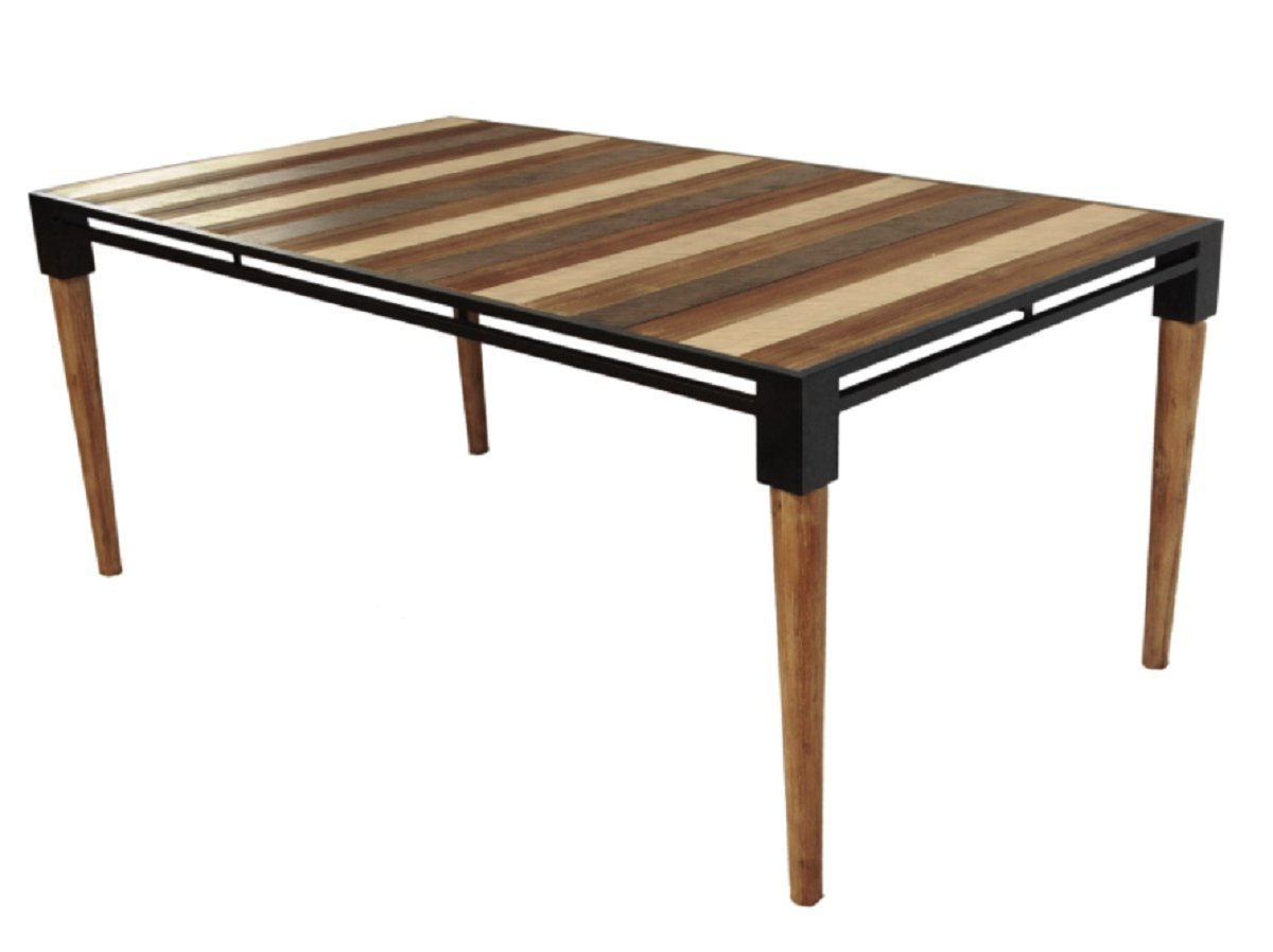 Fashionable Acacia Wood Medley Medium Dining Tables With Metal Base Pertaining To Amazon – Cdi Furniture Td1282M The Medley Collection (View 2 of 26)