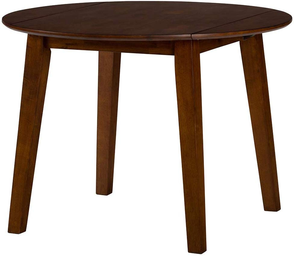 Fashionable Amazon – Jofran Simplicity Caramel Round Drop/leaf Regarding Transitional 4 Seating Drop Leaf Casual Dining Tables (View 8 of 25)