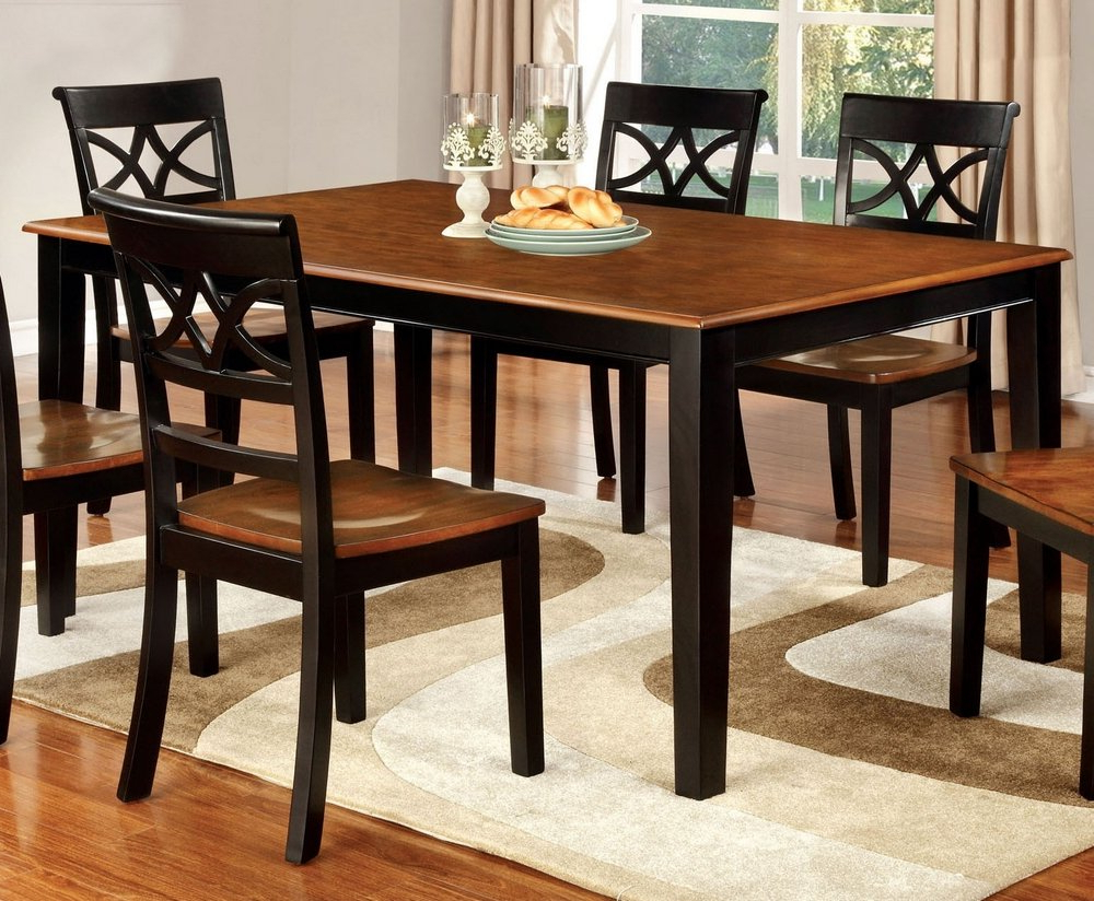 Fashionable Amazon – William's Home Furnishing Cm3552Bc T Torrington With Transitional Rectangular Dining Tables (View 17 of 21)