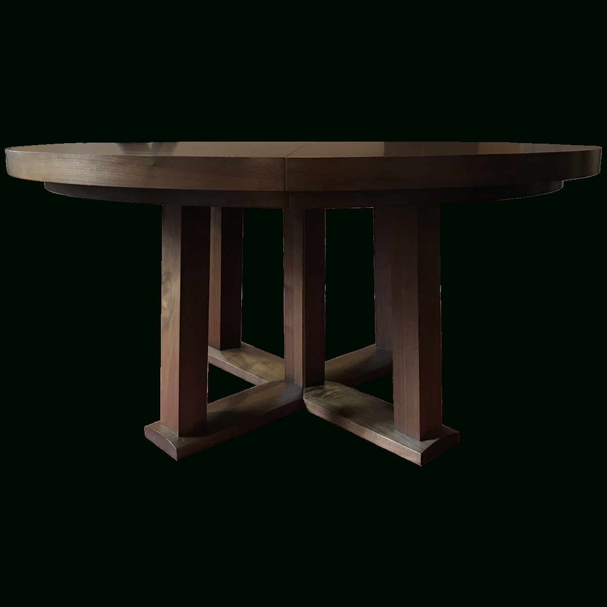 Fashionable Christian Liaigre Round Oak Expandable Dining Table Pertaining To Neo Round Dining Tables (View 22 of 25)