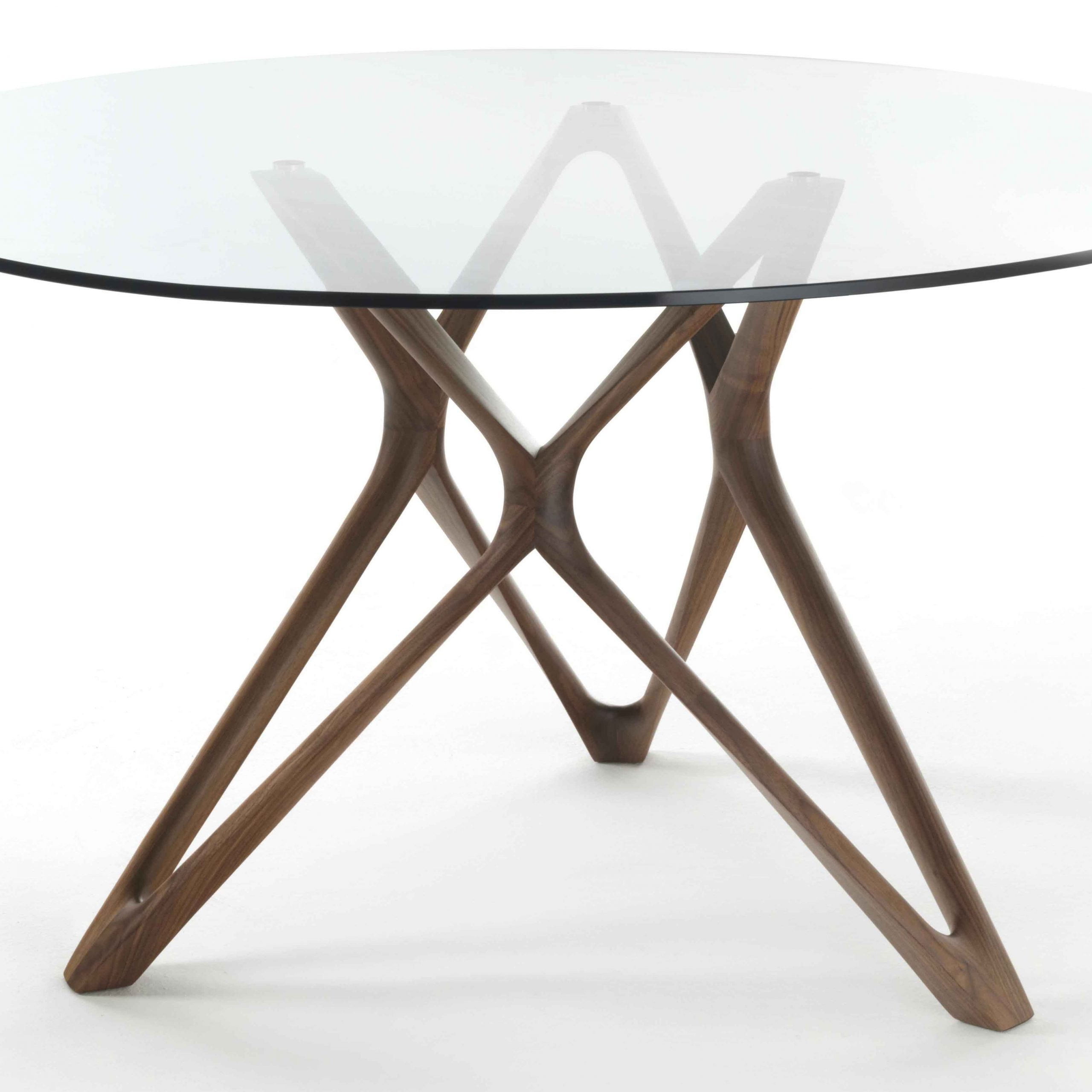 Fashionable Circe Dining Table With Glass Topporada In Dining Tables Intended For Round Dining Tables With Glass Top (View 16 of 25)