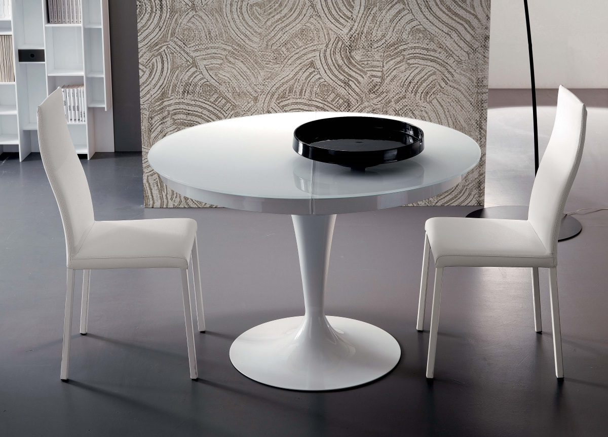 Fashionable Eclipse Dining Tables Intended For Ozzio Eclipse Round Extending Dining Table (View 10 of 25)