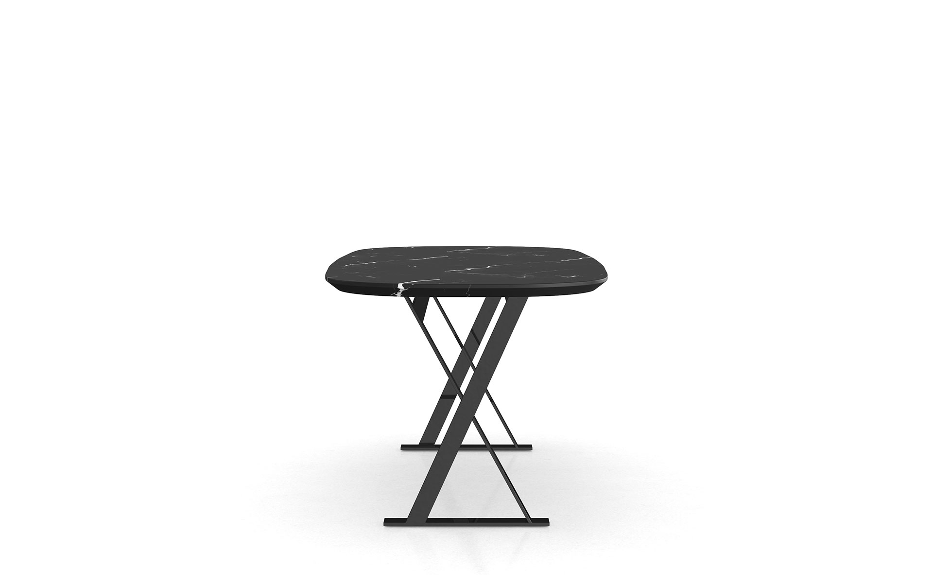 Fashionable Modloft Irving Dining Table For Long Dining Tables With Polished Black Stainless Steel Base (View 20 of 25)