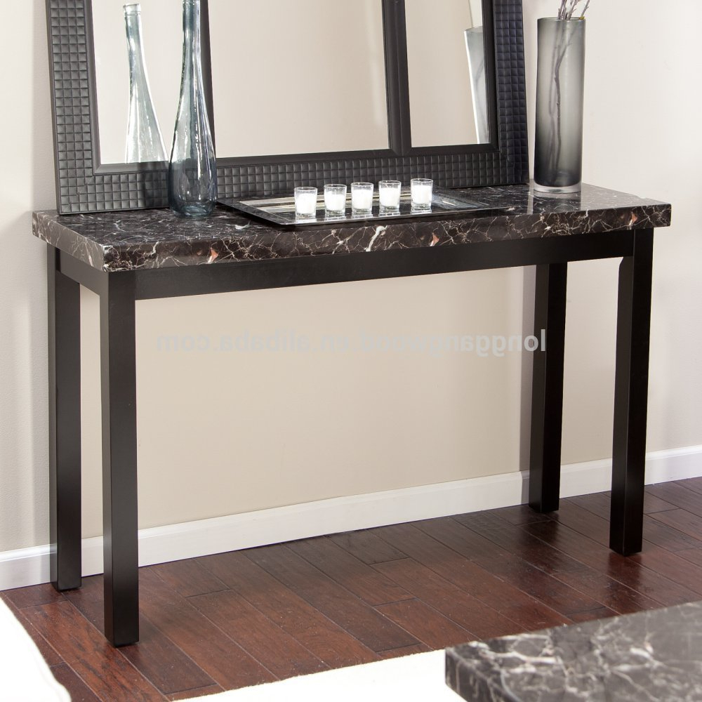 Faux Marble Finish Metal Contemporary Dining Tables Pertaining To Well Known Modern Living Room Furniture Faux Marble Console Table – Buy Console  Table,marble Console Table,modern Console Table Product On Alibaba (View 8 of 25)