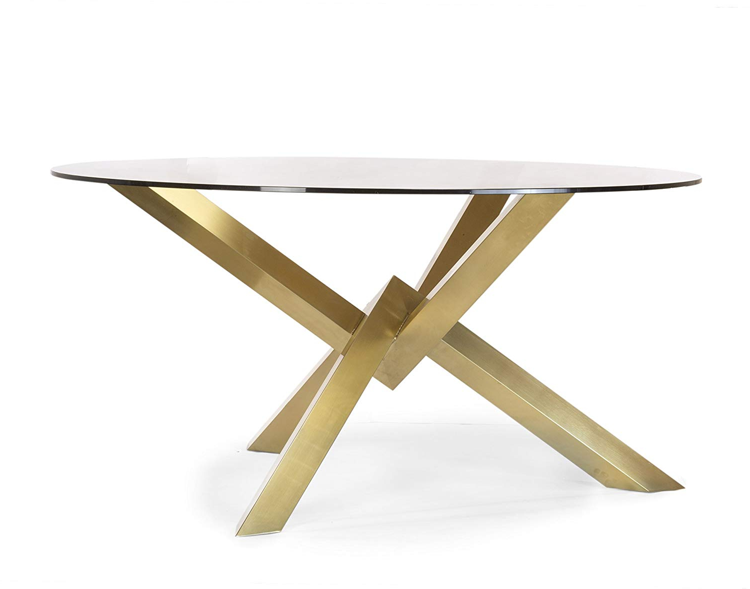 Favorite Amazon – Design Tree Home Couture Brushed Gold Dining Within Dining Tables With Brushed Gold Stainless Finish (View 5 of 25)