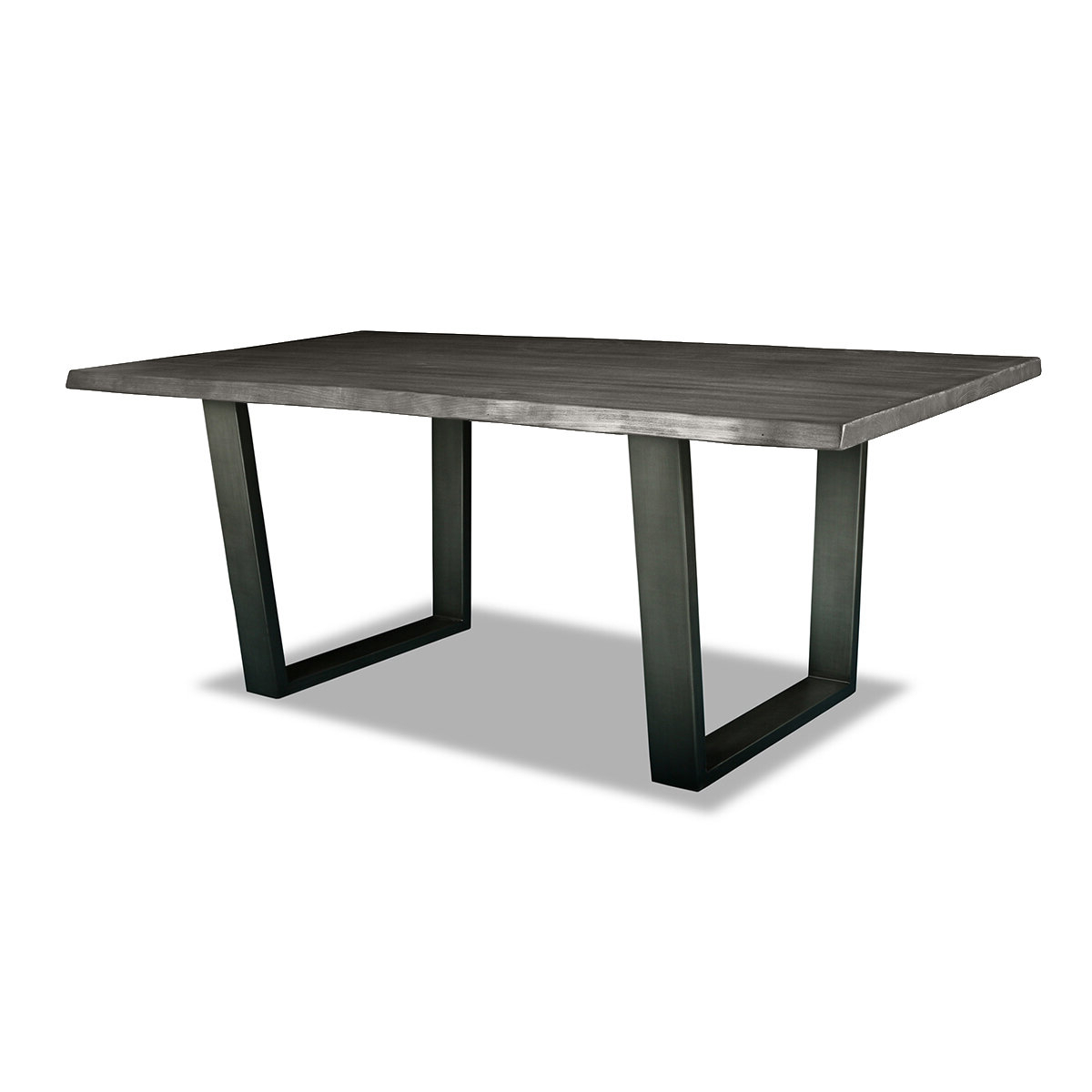 Favorite Bullen Solid Wood Dining Table Intended For Acacia Dining Tables With Black Rocket Legs (View 23 of 25)