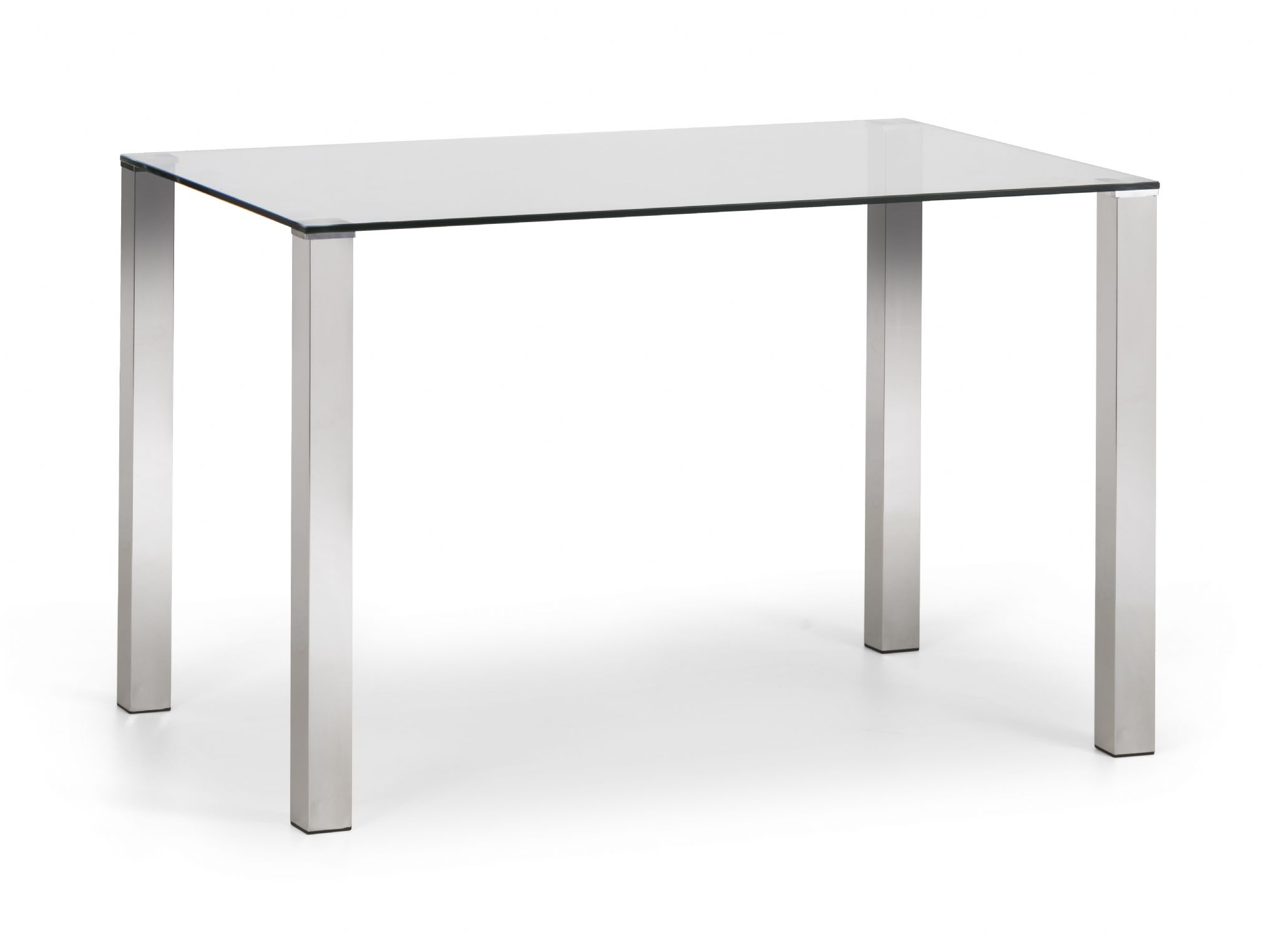 Favorite Chrome Dining Tables With Tempered Glass In Veneto Modern Chrome & Tempered Glass Dining Table Jb (View 5 of 25)