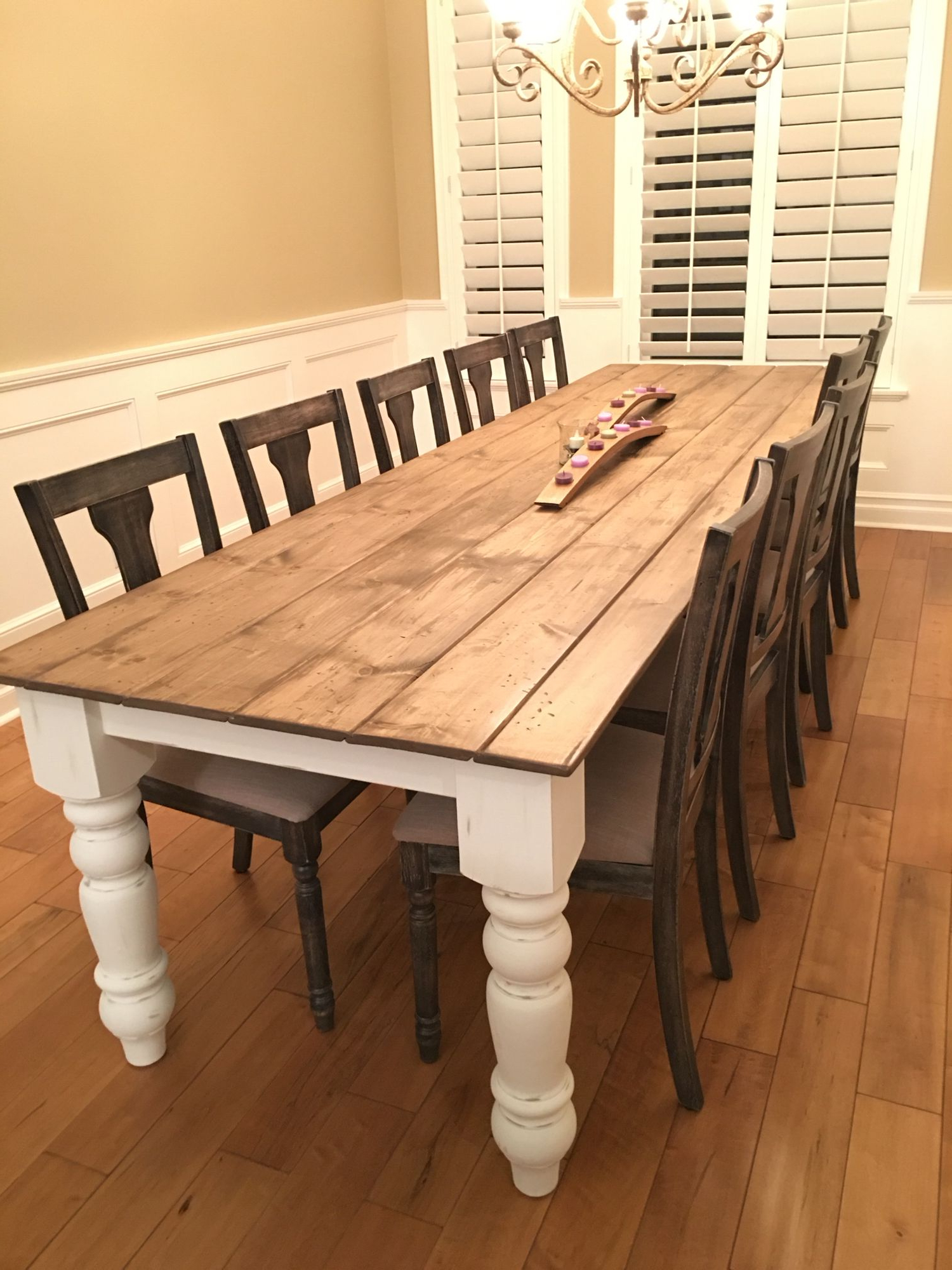 Favorite Country Dining Tables With Weathered Pine Finish Throughout Diy Farmhouse Table (View 15 of 25)