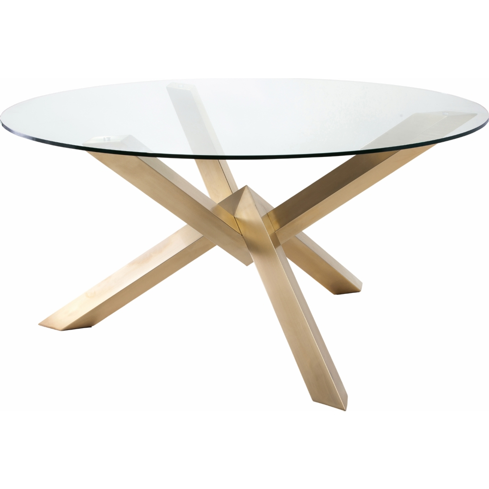 Featured Photo of Dining Tables With Brushed Gold Stainless Finish