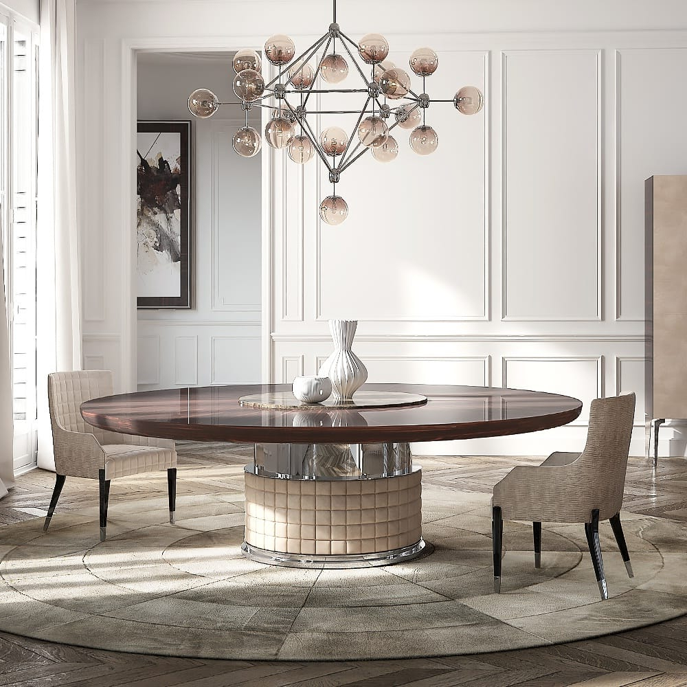 Favorite Exclusive Italian Large Round Ebony Dining Table – Juliettes Regarding Elegance Large Round Dining Tables (View 3 of 25)
