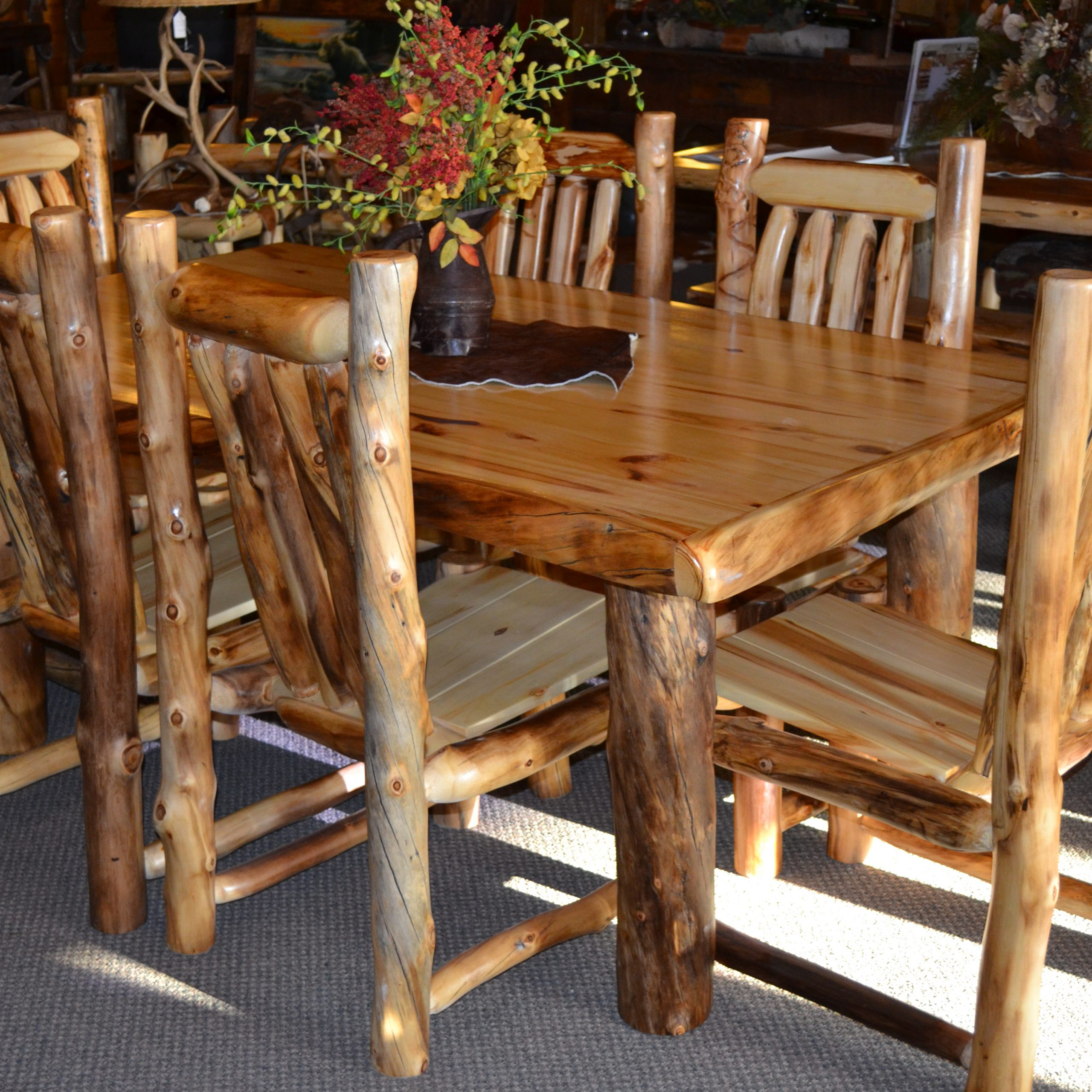 Favorite Small Rustic Look Dining Tables For For Dimensions Chandelier Big Inches Sets Length Everyd (View 7 of 25)