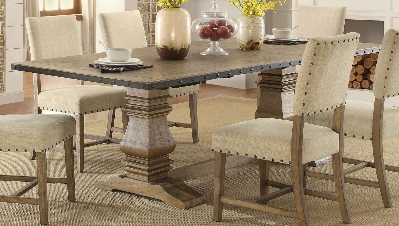 Favorite Transitional Rectangular Dining Tables Throughout Veltry Transitional Rectangular Wood Dining Table (View 4 of 21)